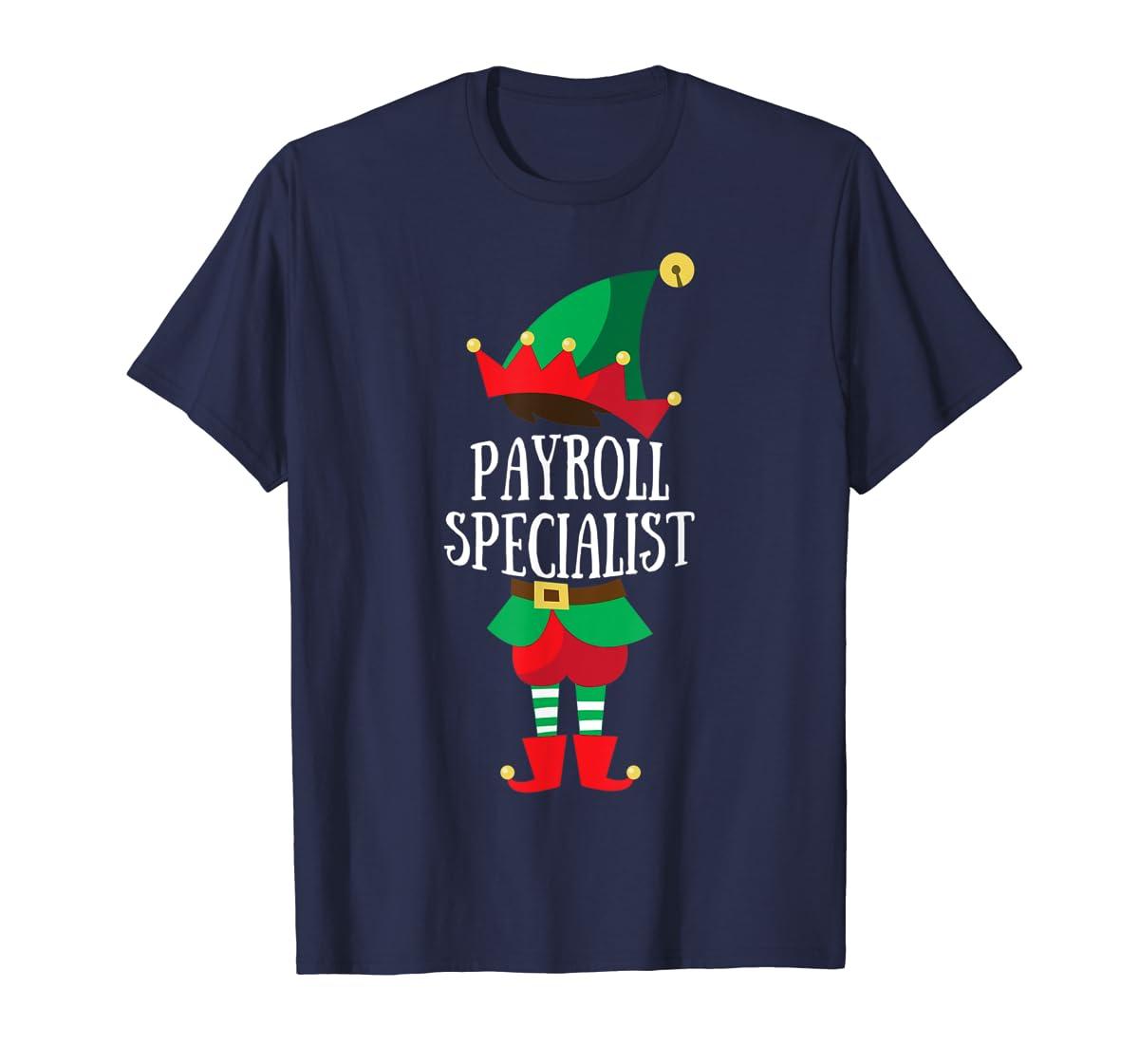 Elf Payroll Specialist Christmas Group Matching T-Shirt-Men's T-Shirt-Navy