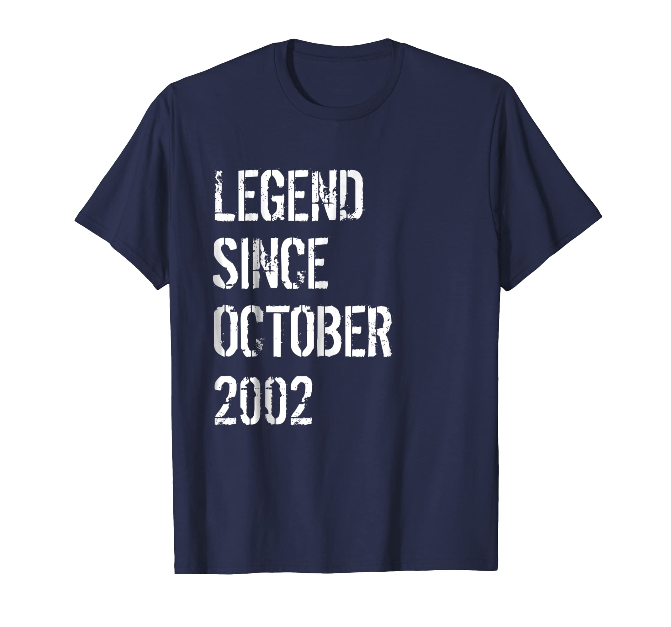 16th Birthday Gift Shirt Legend Since October 2002-azvn