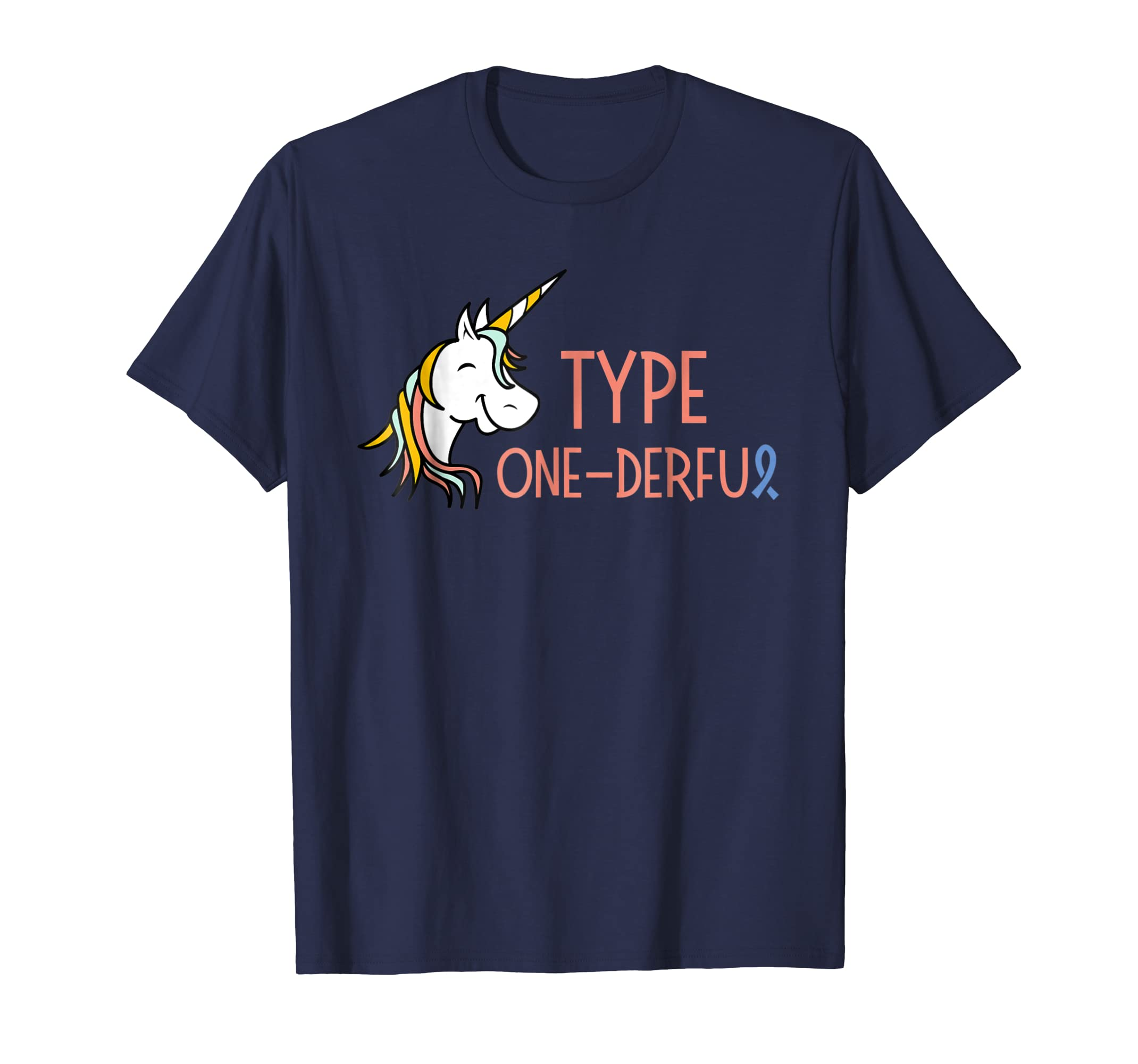 Type One Derful Type1 diabetes T shirt for Men Women Unicorn-azvn