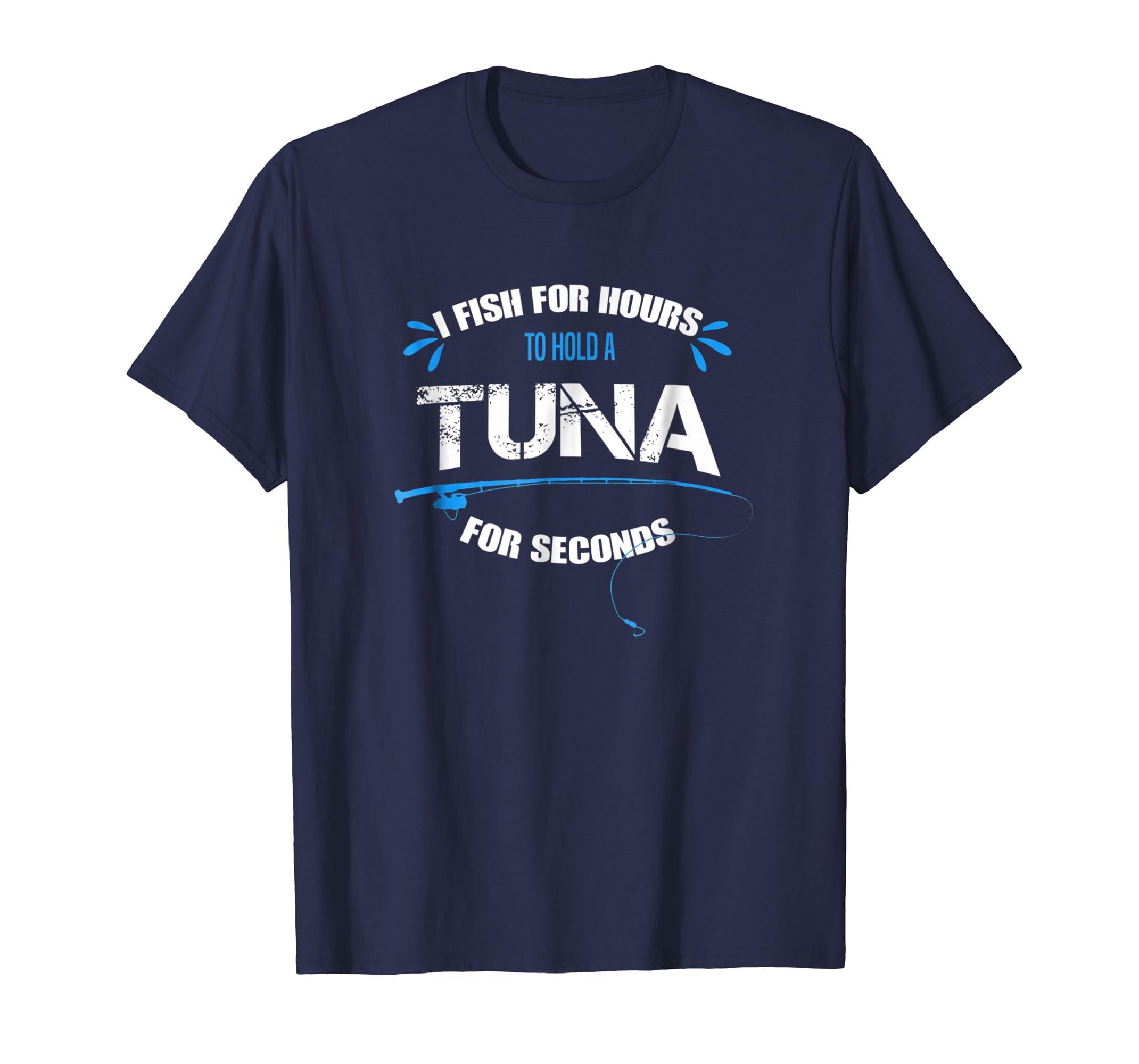 Funny Tuna Fishing TShirt Fish Pole Vintage Novelty Gift-Teesml