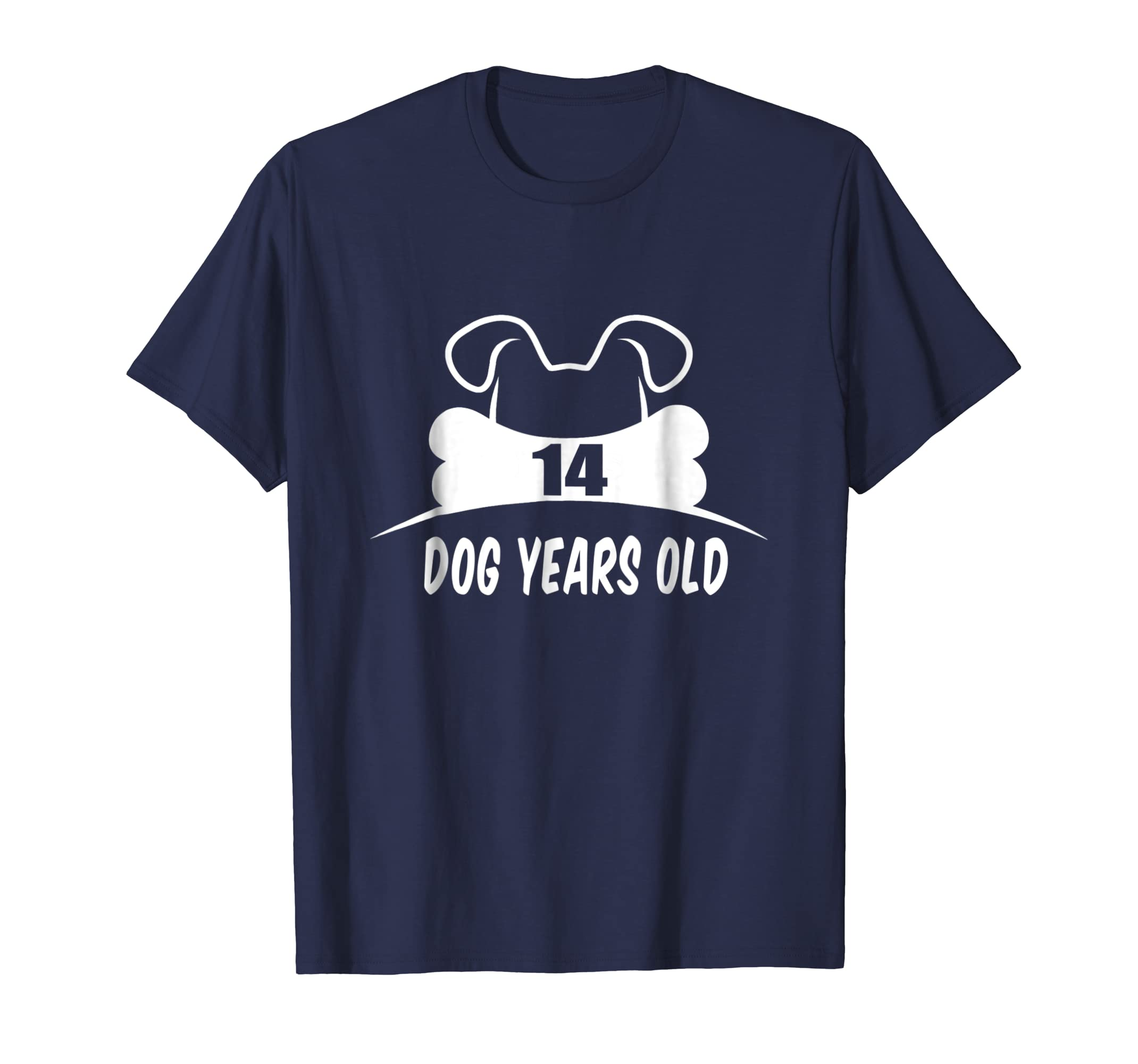 14 Dog Years Old T-Shirt Funny 2nd Birthday Dog Lover Gift-AZP