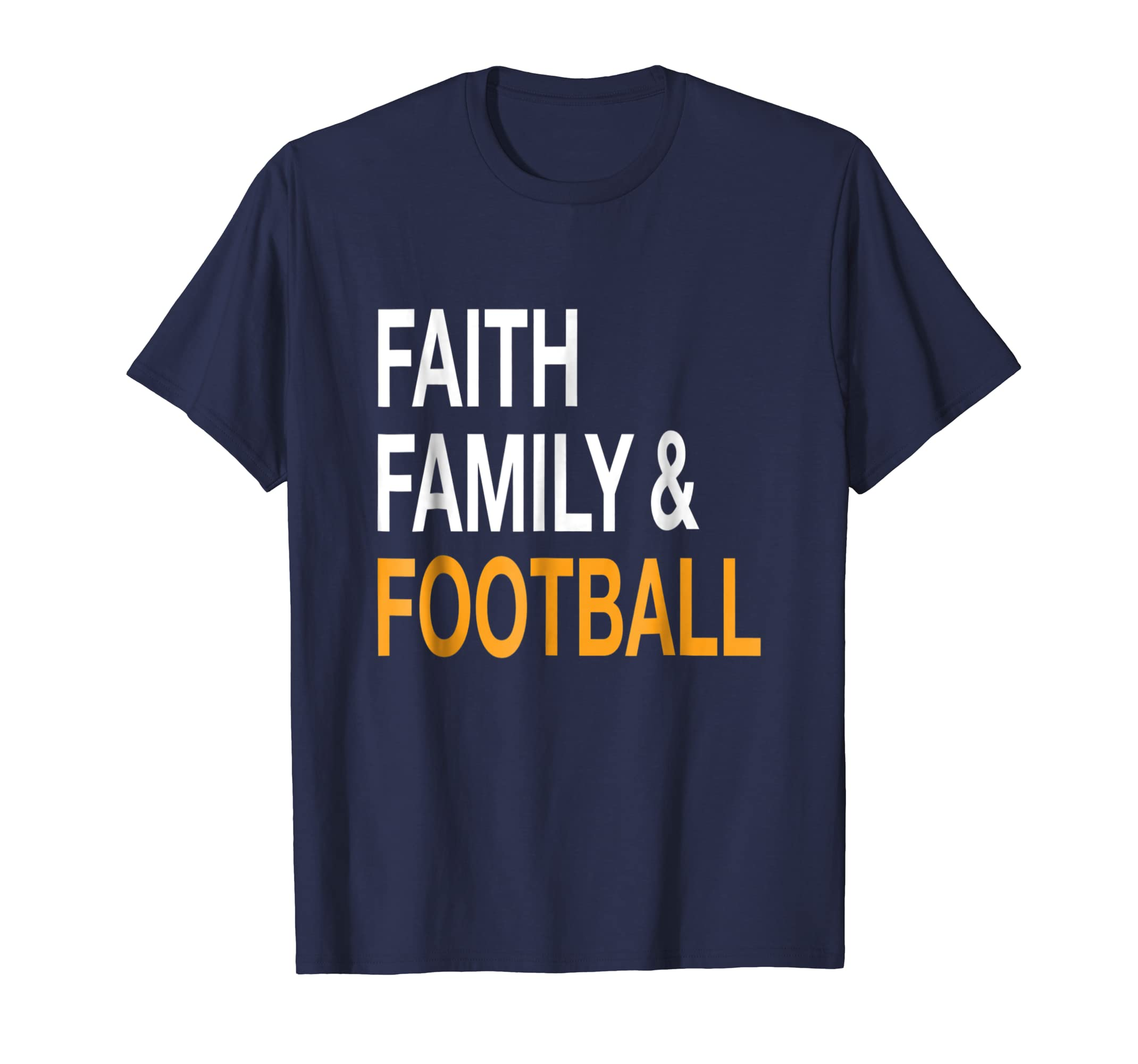 Faith Family & Football T Shirt  Funny Thanksgiving Tee-Awarplus