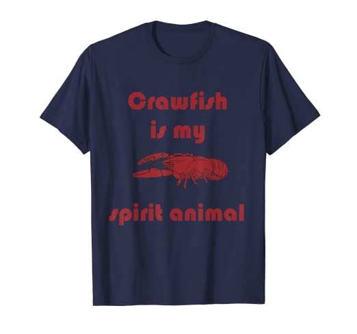 c72f1af0cf Image Unavailable. Image not available for. Color: Crawfish is My Spirit  Animal Funny Louisiana Cajun Tee