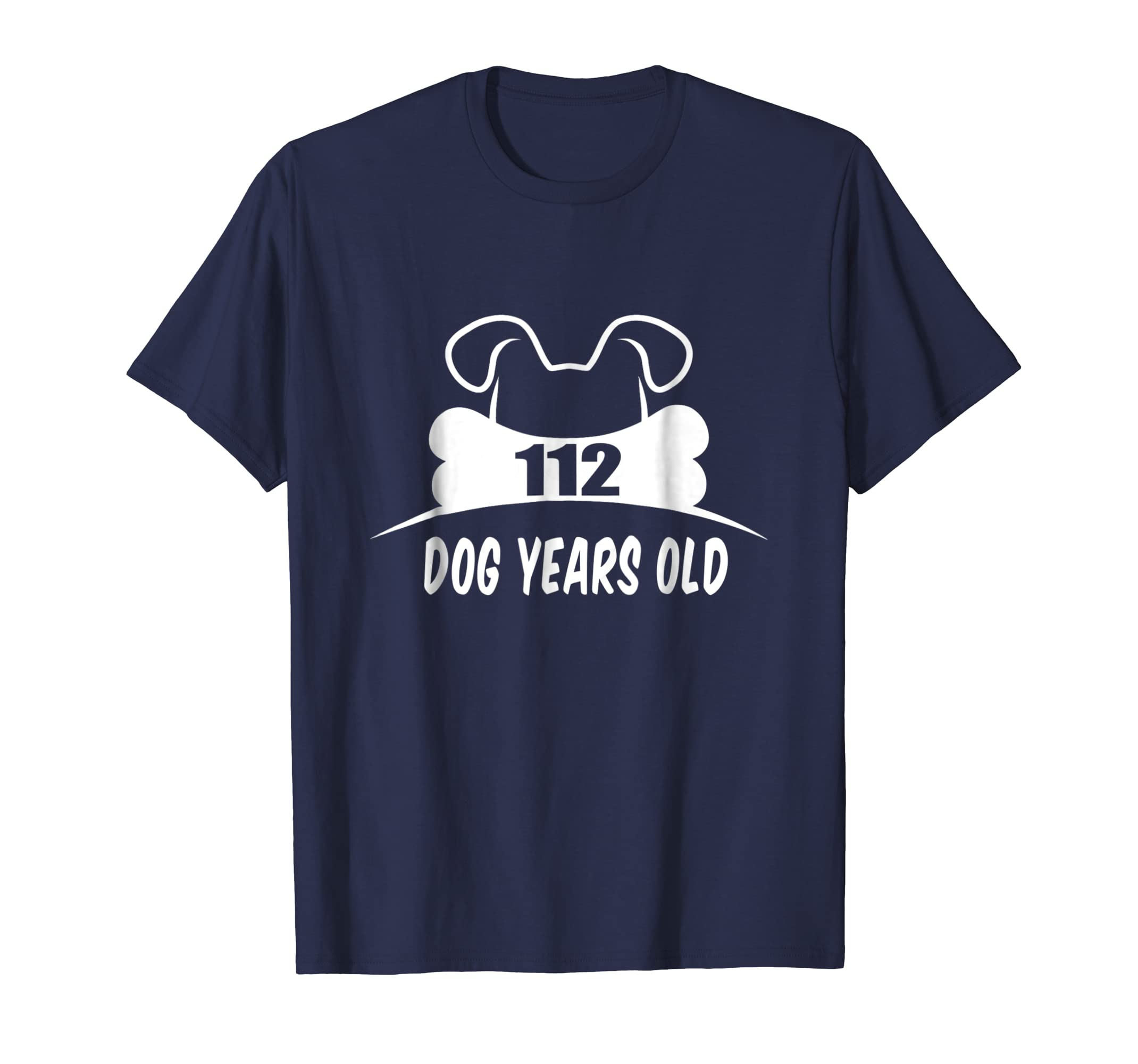 112 Dog Years Old T-Shirt Funny 16th Birthday Dog Lover Gift-AZP