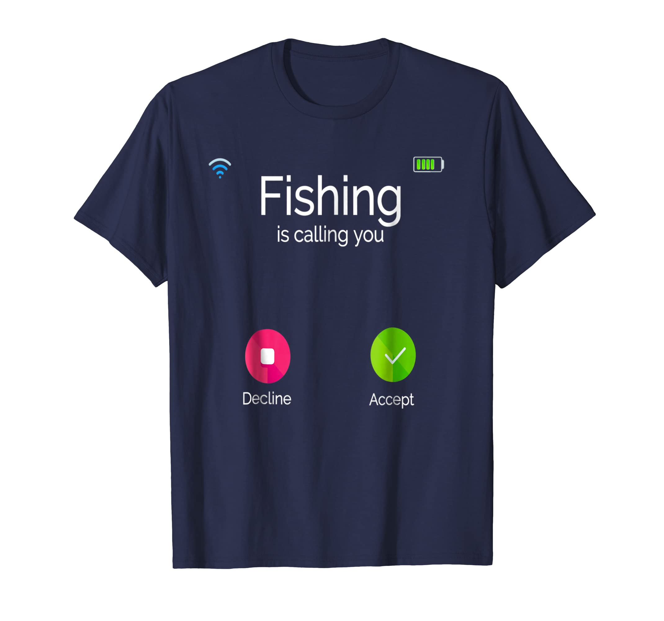 Phone Screen Cover Fishing is Calling Fishing T Shirt Gift-Colonhue