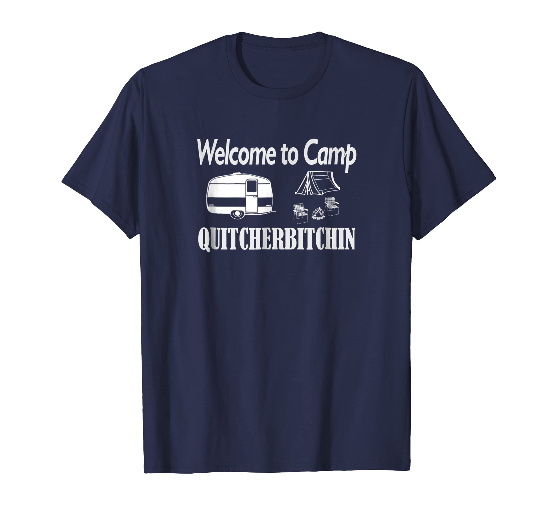 98cd91efa8 Amazon.com  Mens Funny Camping Shirt Welcome to Camp T-Shirt  Clothing