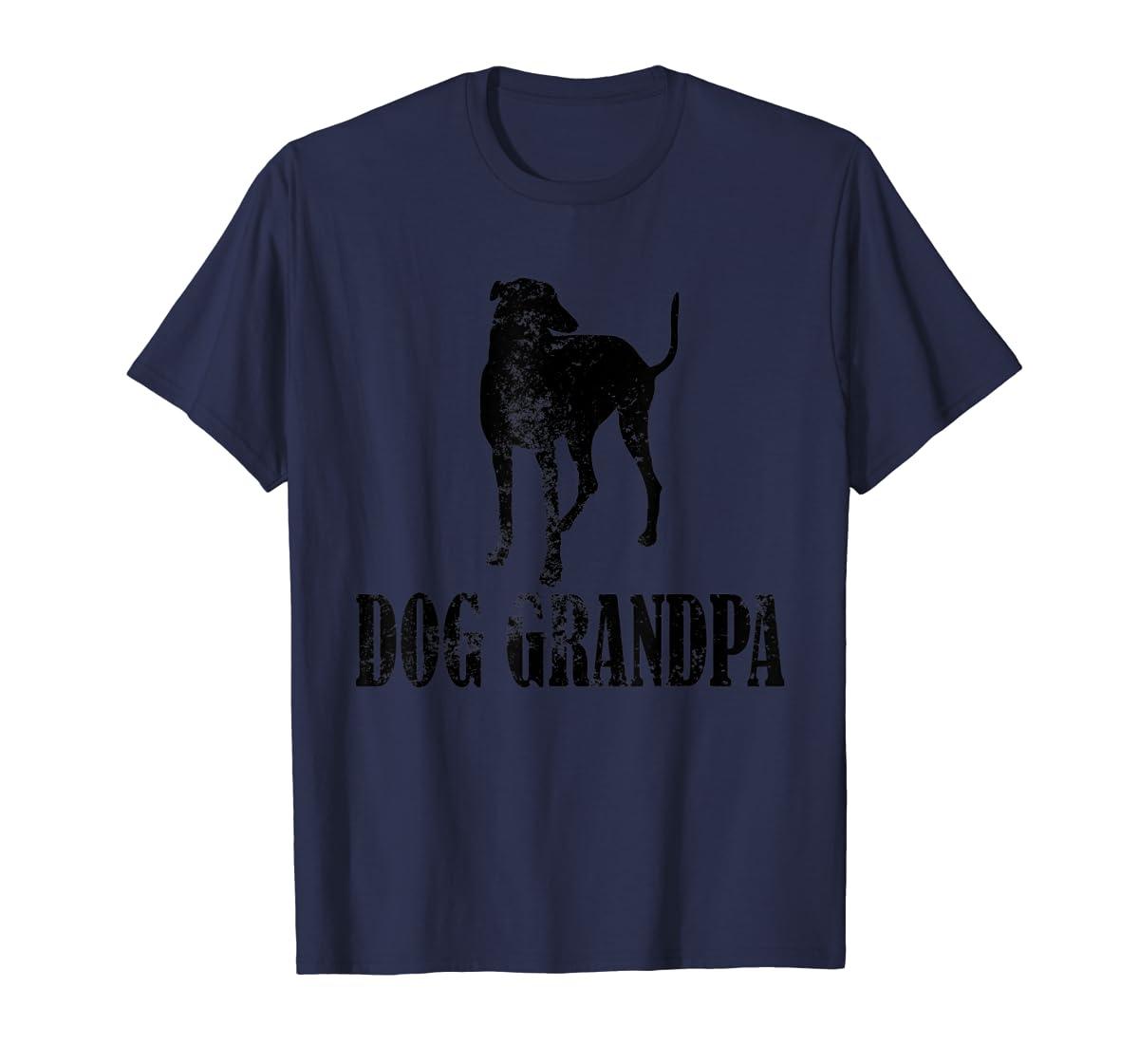 Father's Day T Shirt Greyhound Dog Grandpa T-Shirt Gifts-Men's T-Shirt-Navy