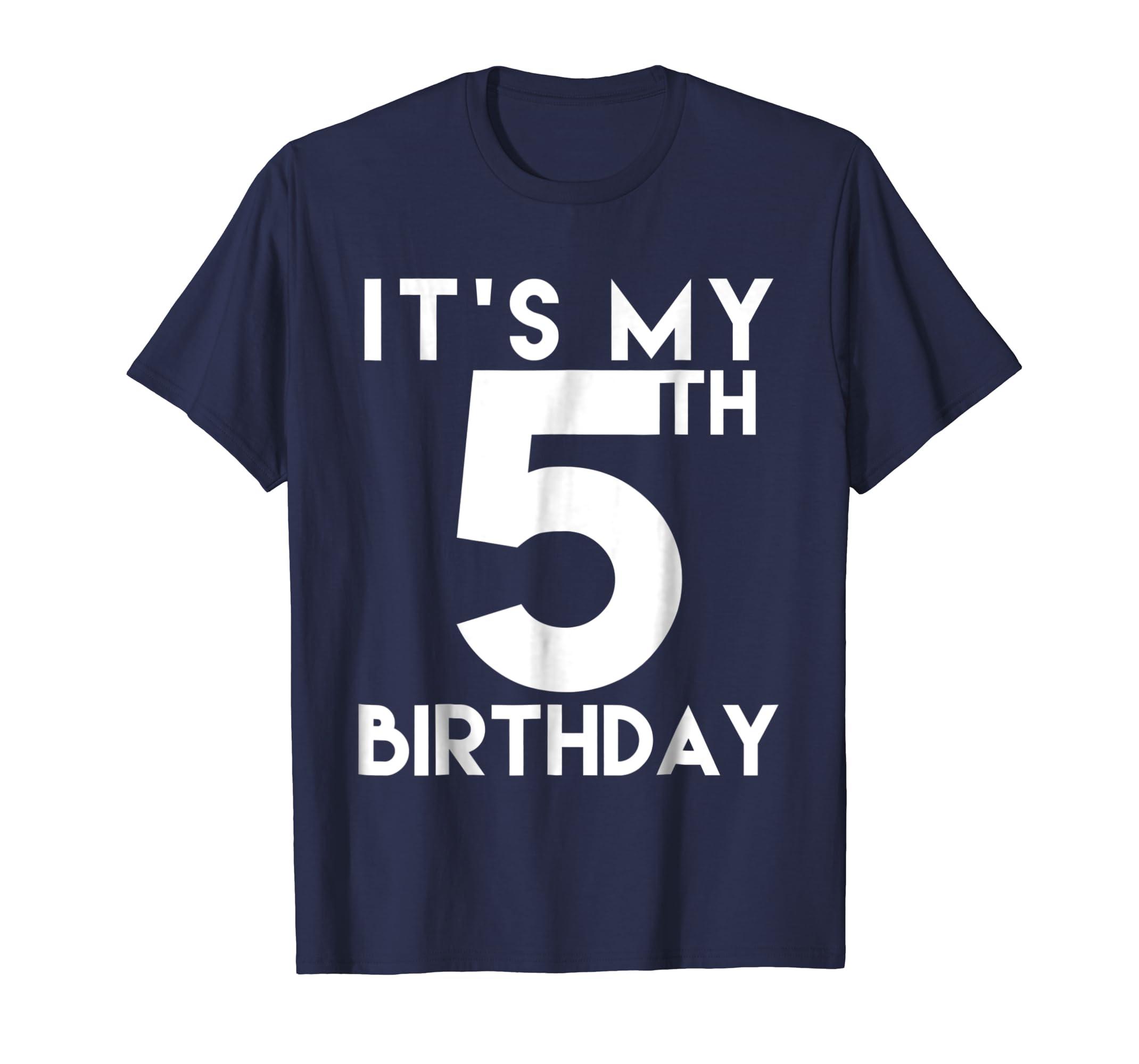 Amazon 5th Birthday Shirt Its My T Clothing