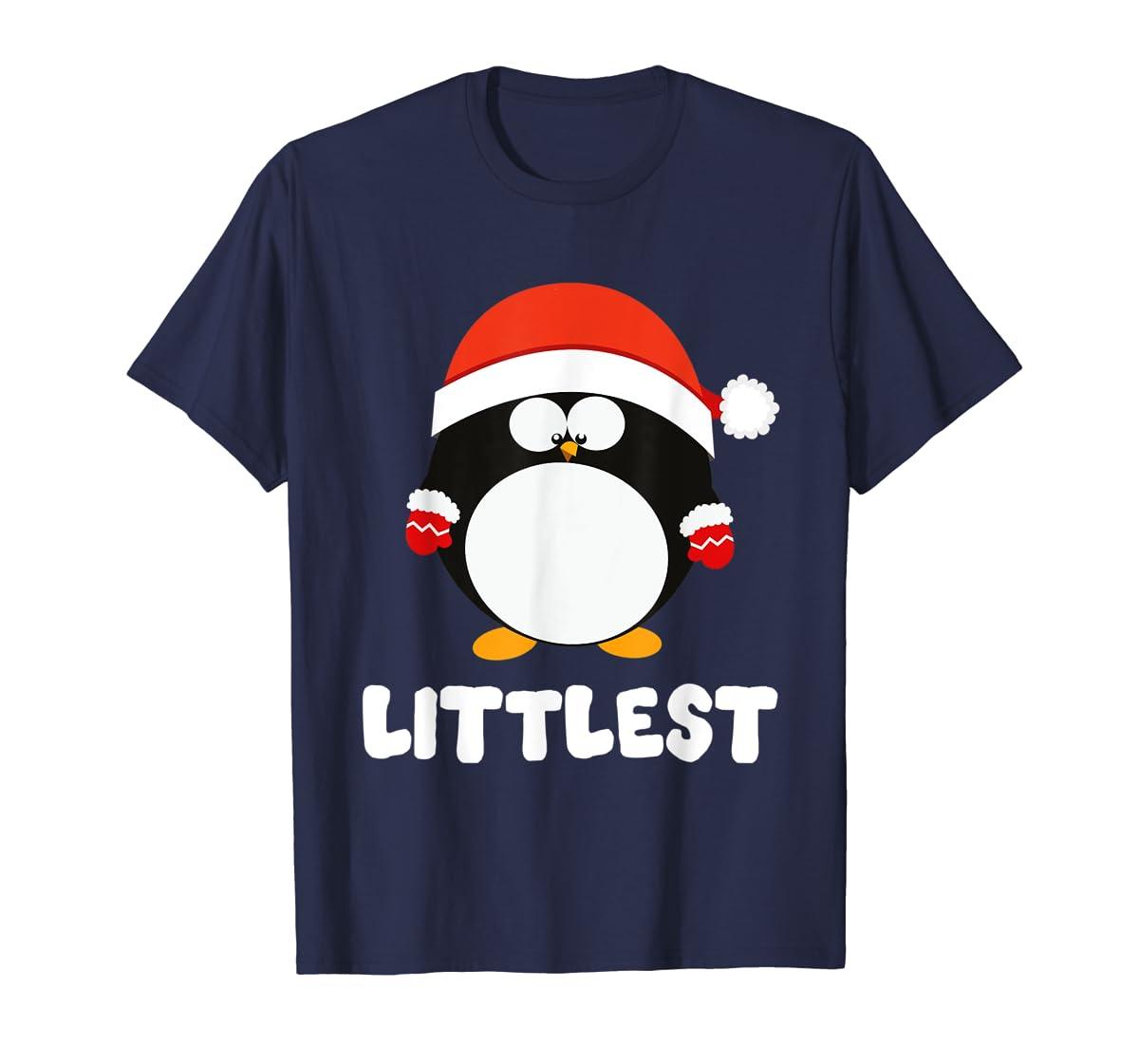 Santa Littlest Penguin Christmas Family Matching Costume T-Shirt-Men's T-Shirt-Navy