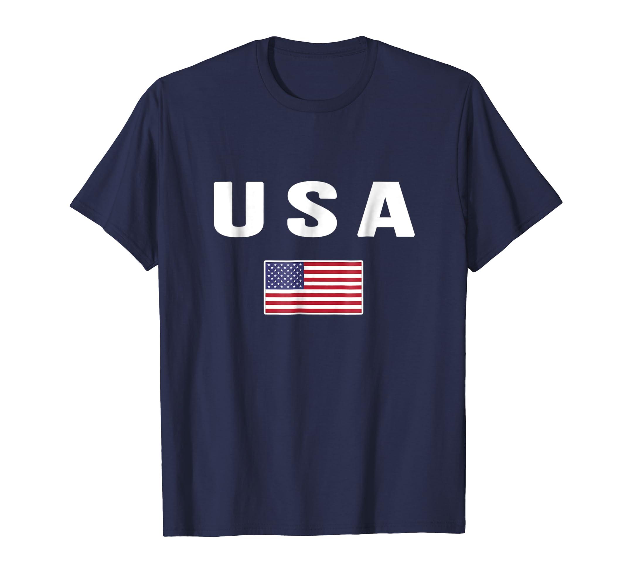 USA T shirt American Flag US America United States 4th July-azvn