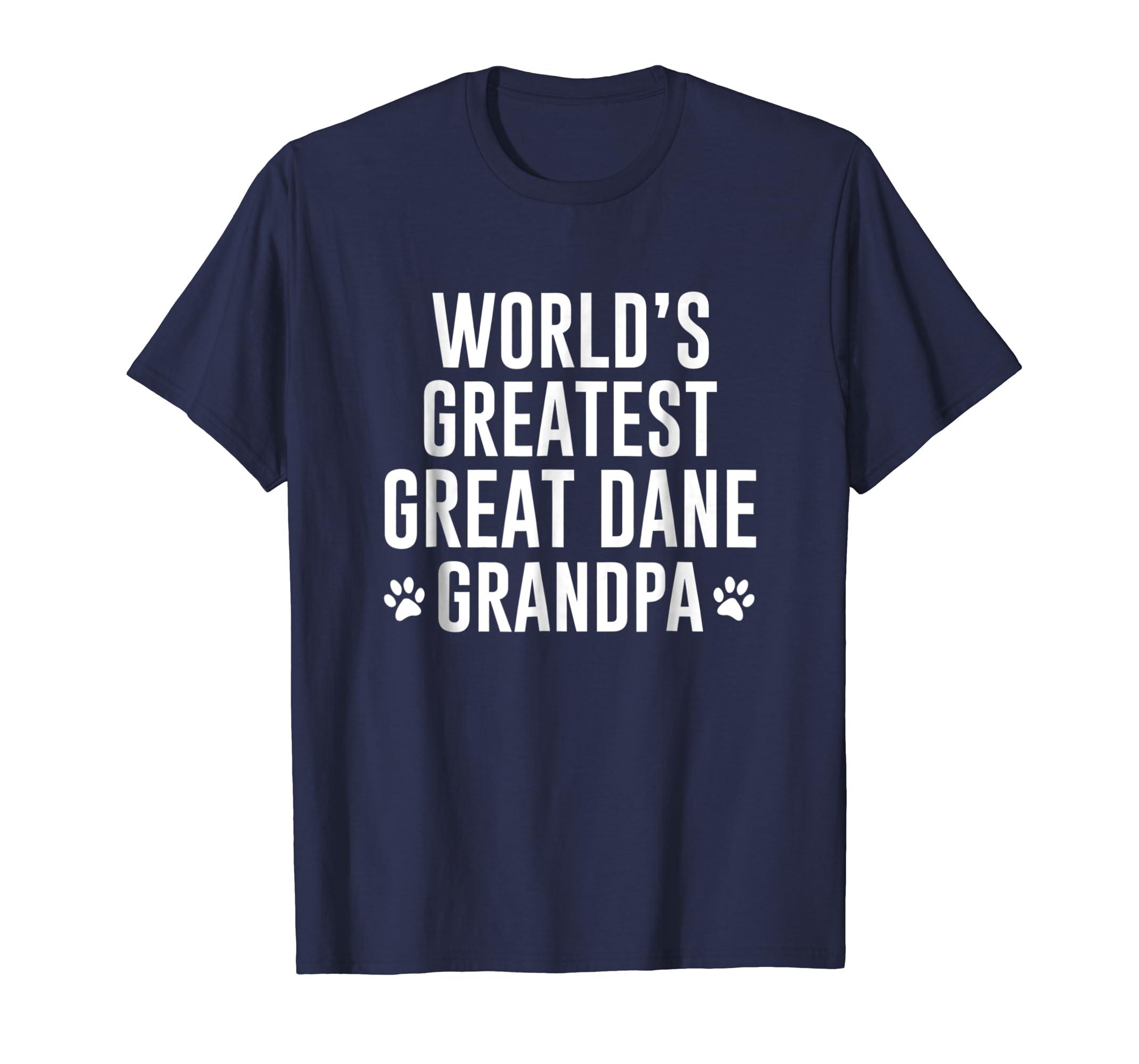 WORLDS GREATEST GREAT DANE GRANDPA TSHIRT-SFL