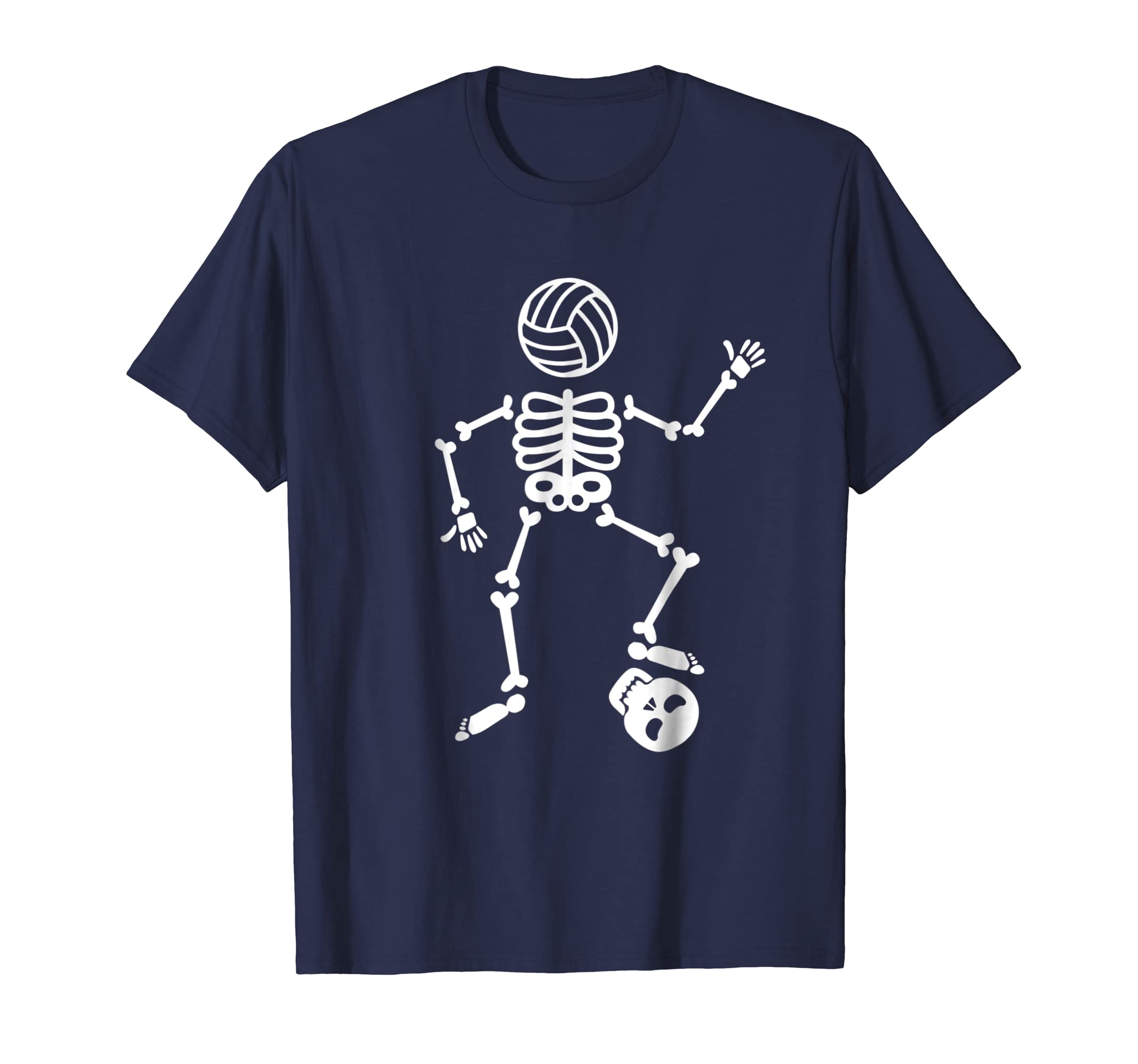 Funny Skeleton Halloween Volleyball T Shirt for Player and F-azvn