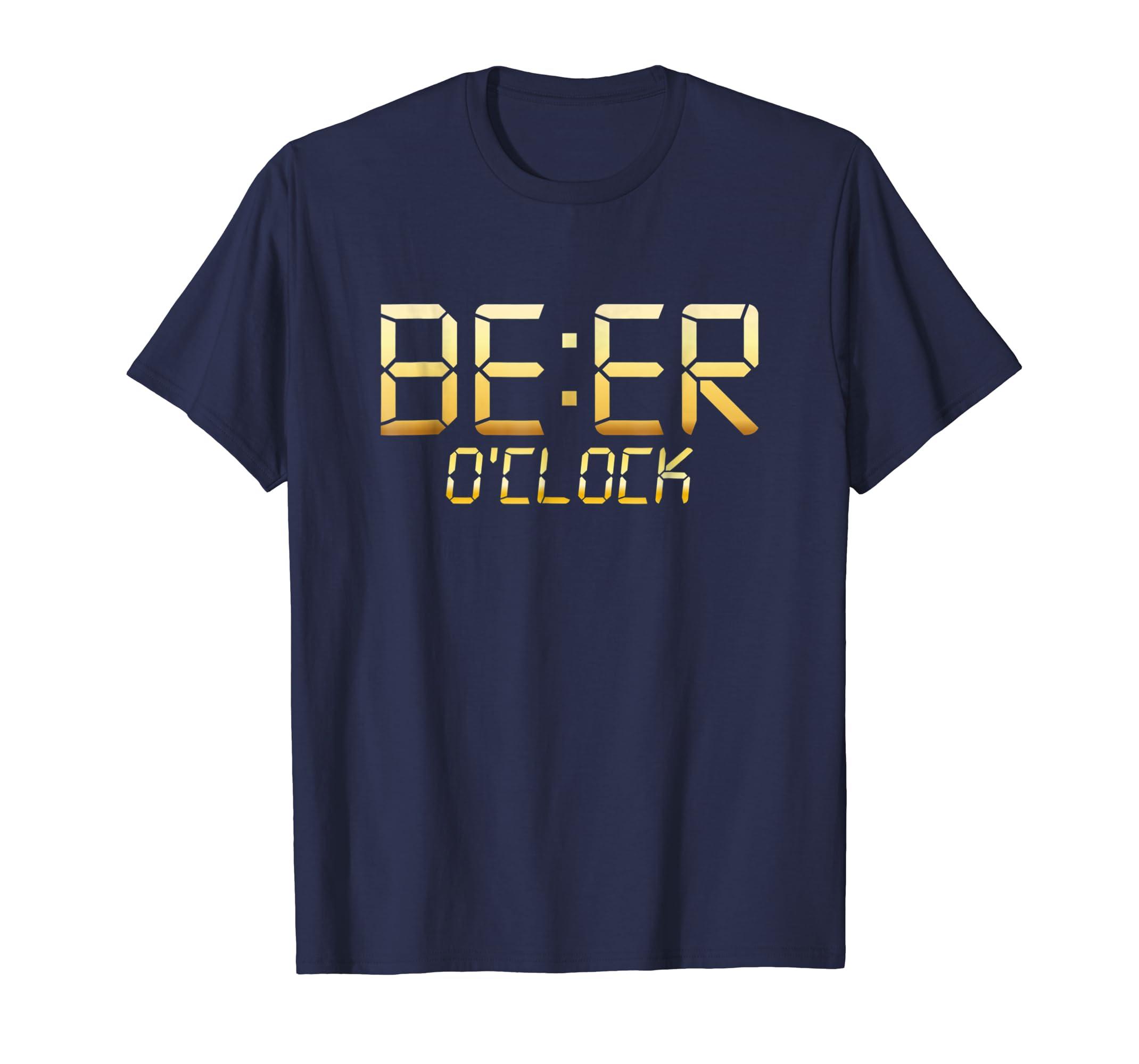 'BEER O'CLOCK' International Beer Day Drinking Beer Shirt-AZP
