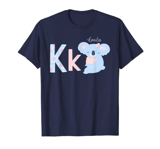 4164b9f3 Amazon.com: Cute Kids Koala Bear Shirt Kid Alphabet Animal T-Shirt ...