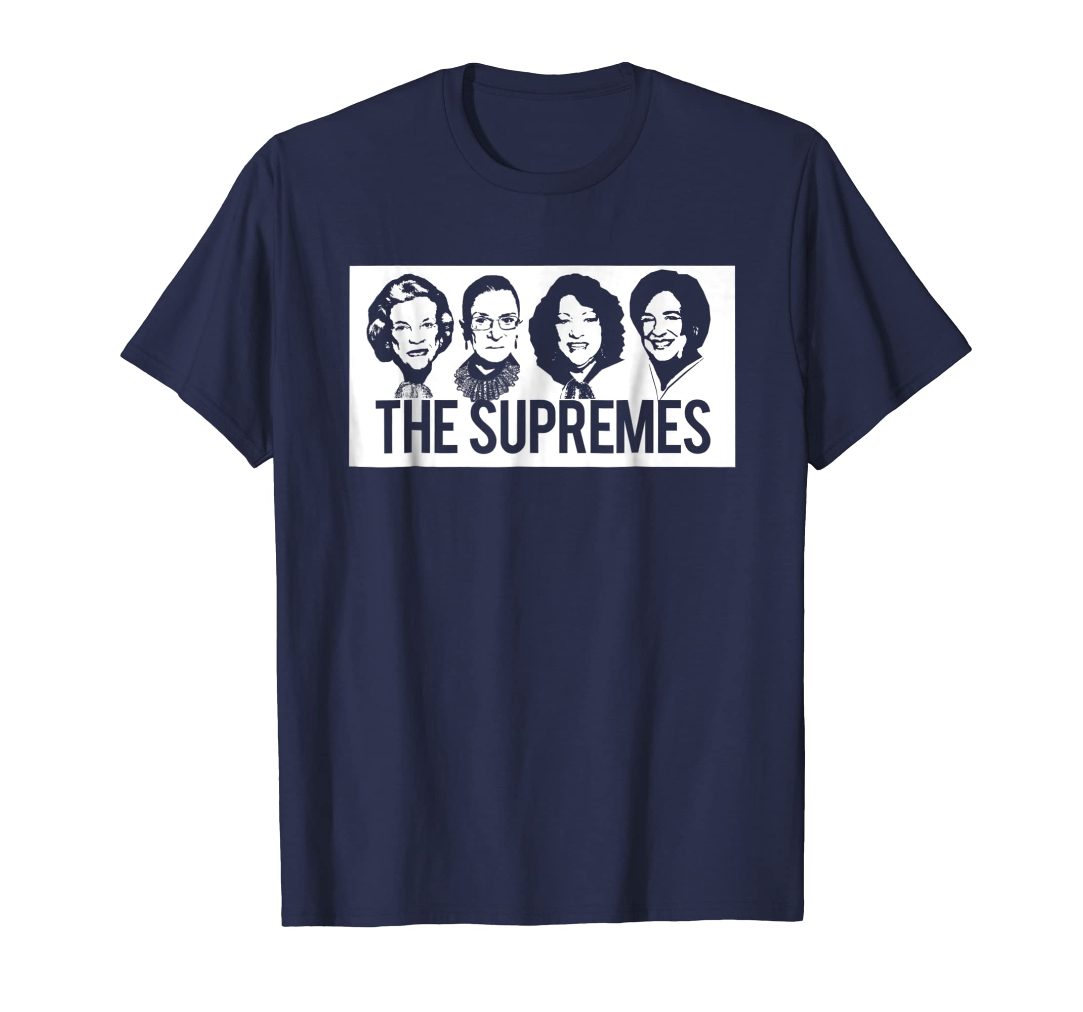 a5908ae741e3 Amazon.com: THE SUPREMES Supreme Court Justices RBG Feminist T-Shirt Hip:  Clothing