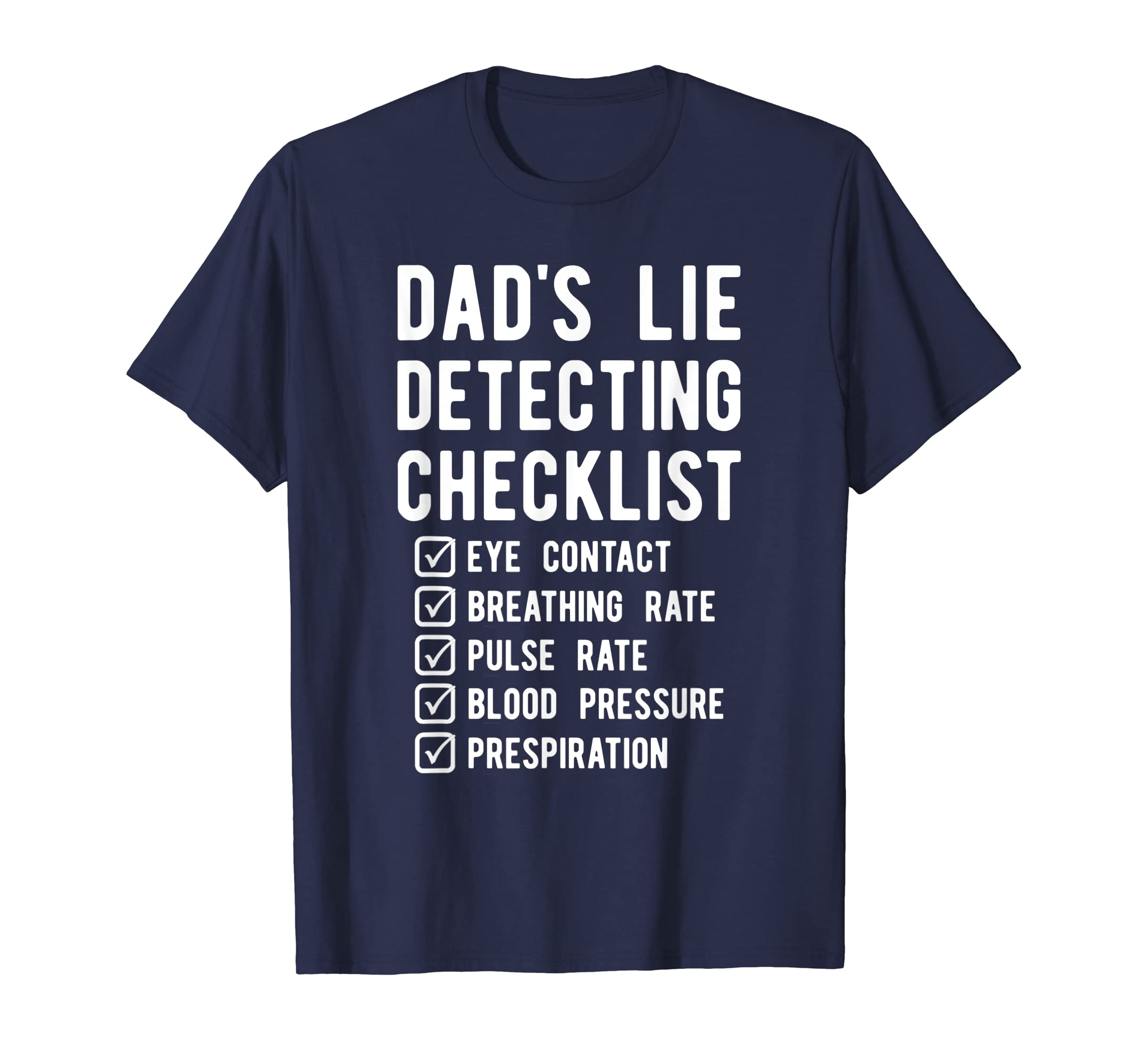 Amazon.com: Funny Dad Polygraph Shirt, Lie Detector Father Tee Gift: Clothing