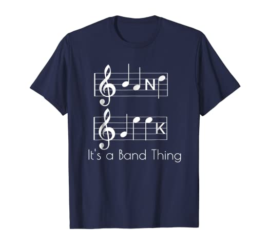 4da47f6d Image Unavailable. Image not available for. Color: Band Geek Music Notes  Spelling Funny T-Shirt ...
