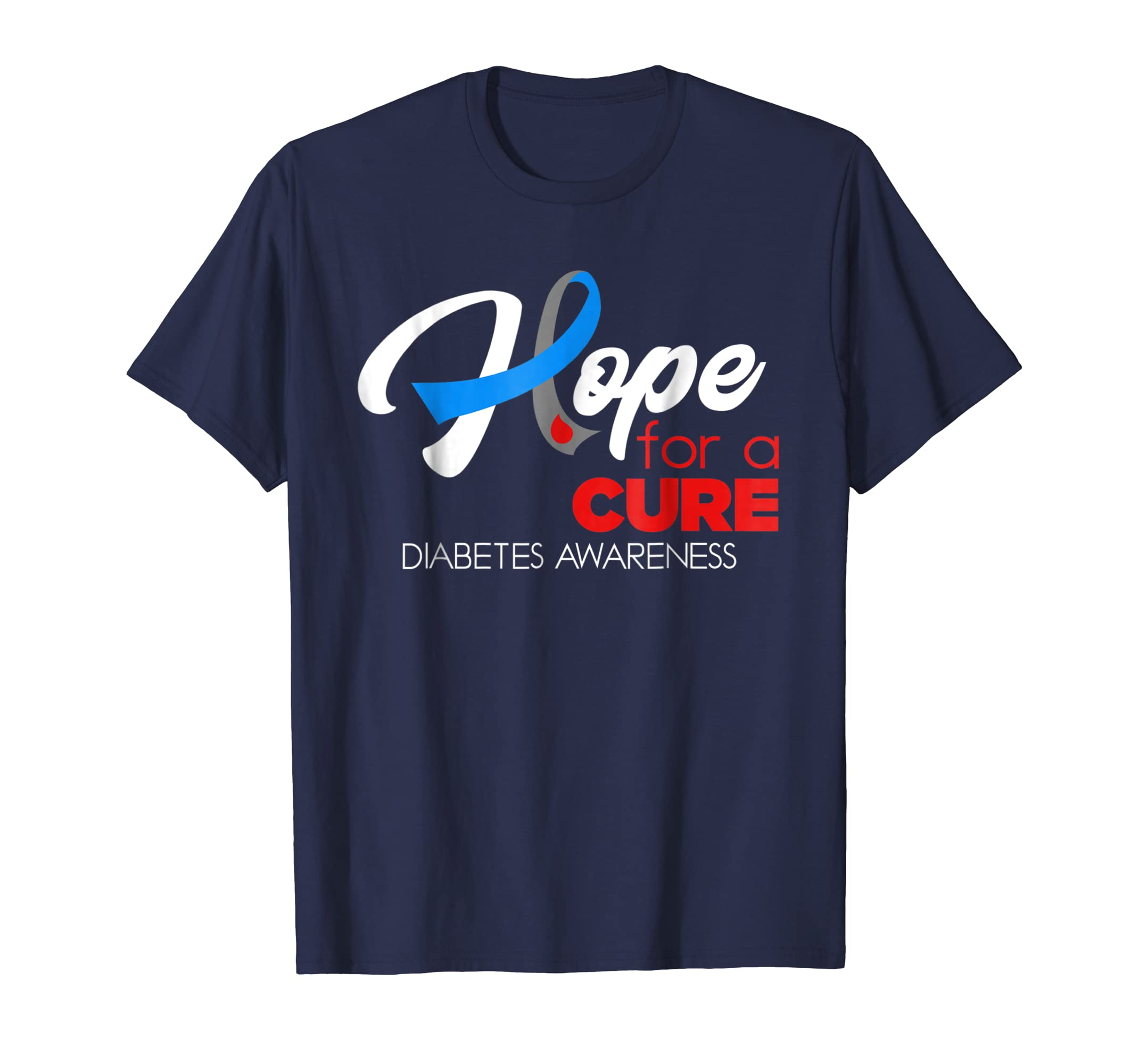 Hope For A Cure Fight Against Diabetes Awareness T Shirt-azvn