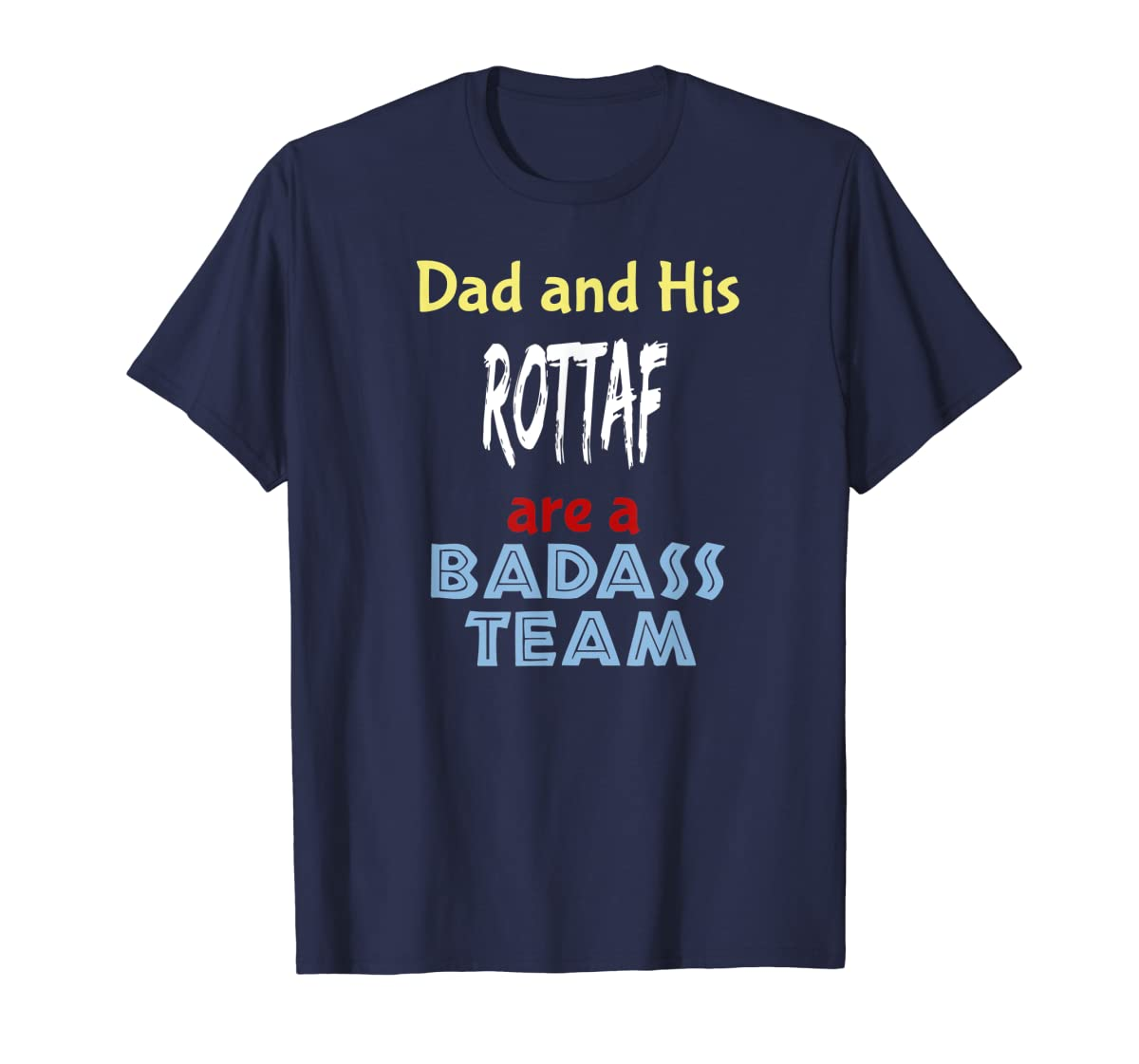 Mens Rottaf Dog Shirt Love Rottweiler + Afghan Hound =  T-Shirt-Men's T-Shirt-Navy