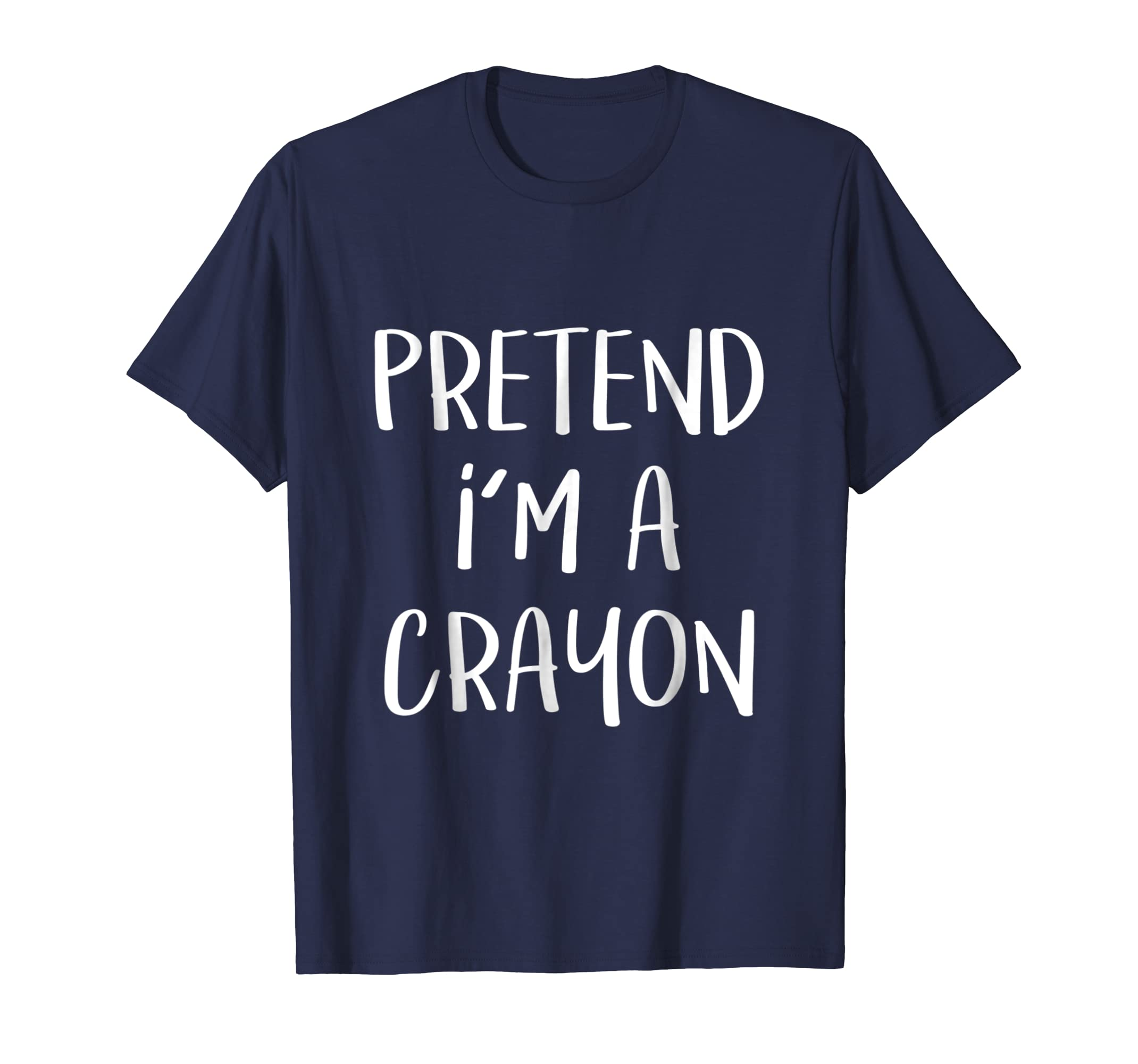 Pretend I'm A Crayon Costume Funny Halloween Party T Shirt-Bawle