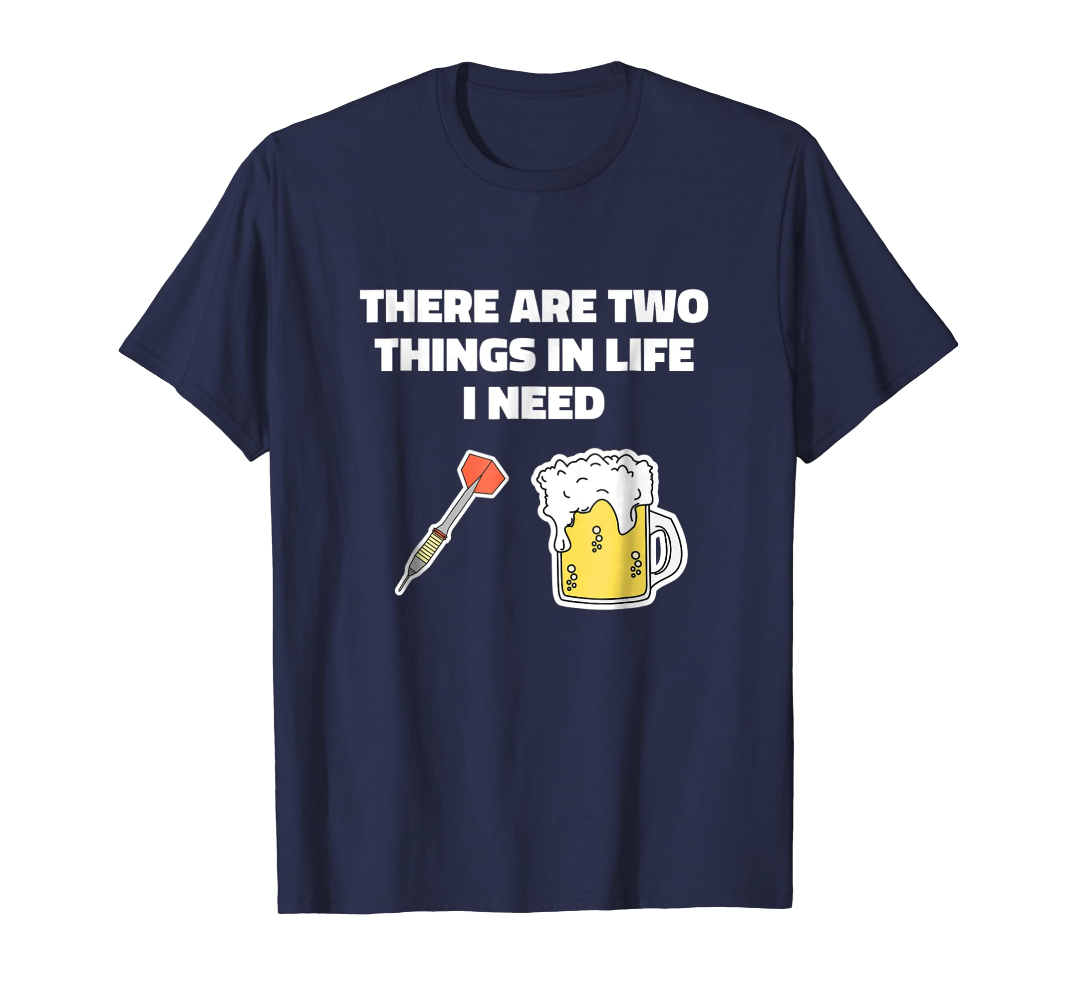 Beer Darts Throwing Drinking Two Things Funny T Shirt-SFL