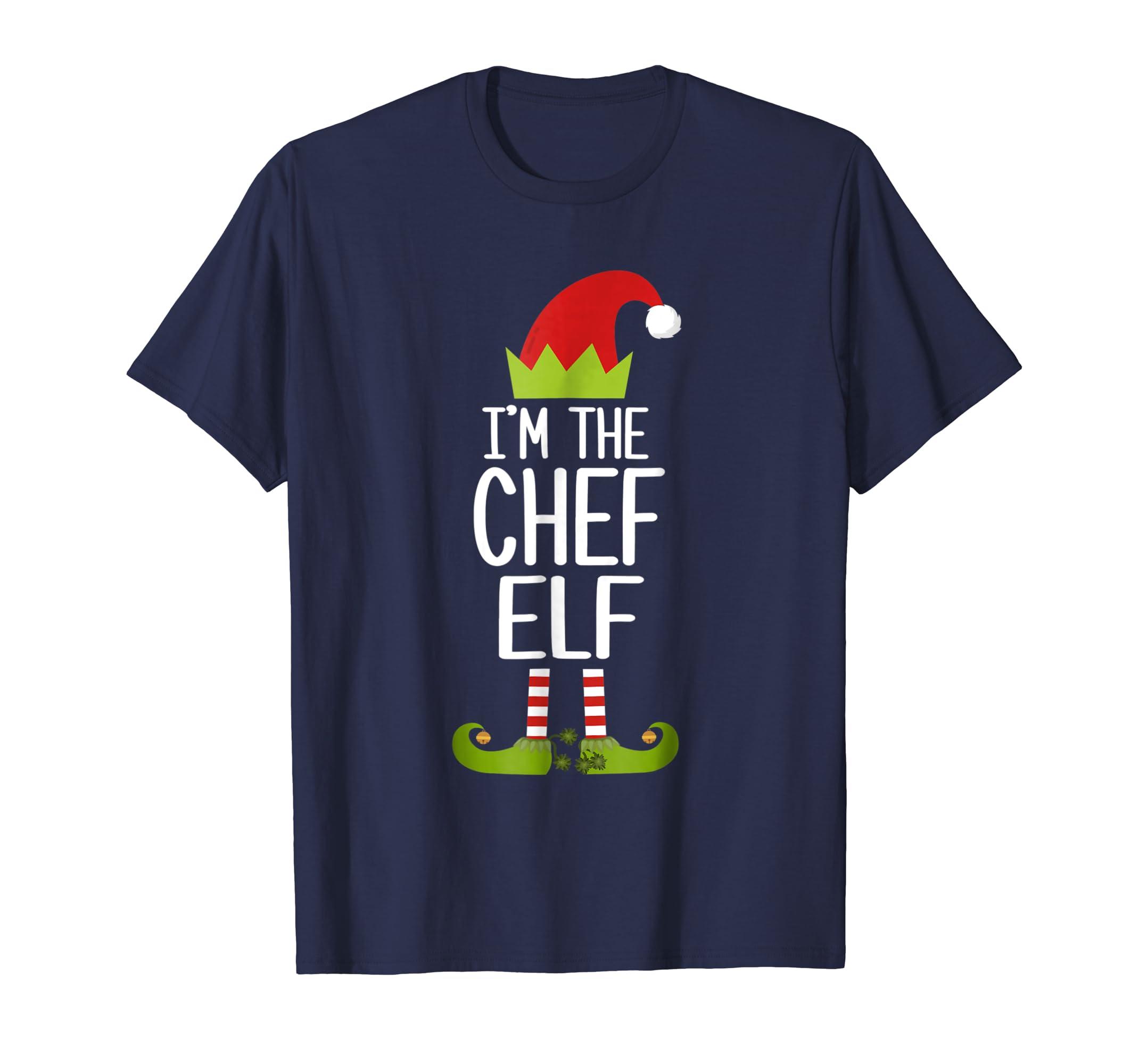 I'm The Chief Elf Shirt Matching Christmas Family Elf Tshirt-azvn