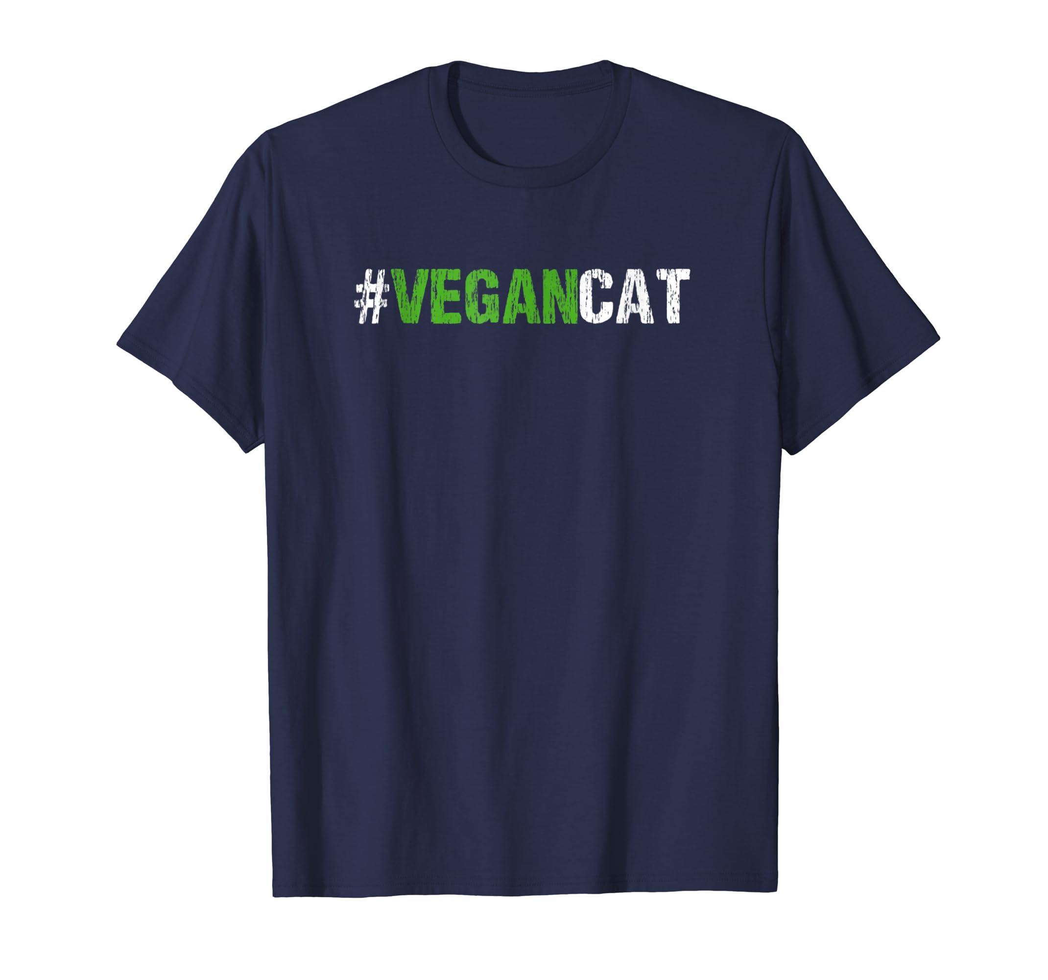 #VeganCat T shirt   Funny Comedy shirt-azvn