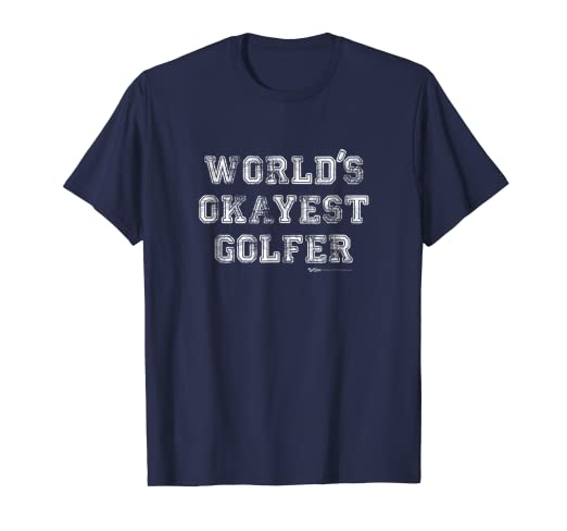 db8b8f2ac Image Unavailable. Image not available for. Color: Vintage World's Okayest  Golfer Golfing Golf Funny T Shirt