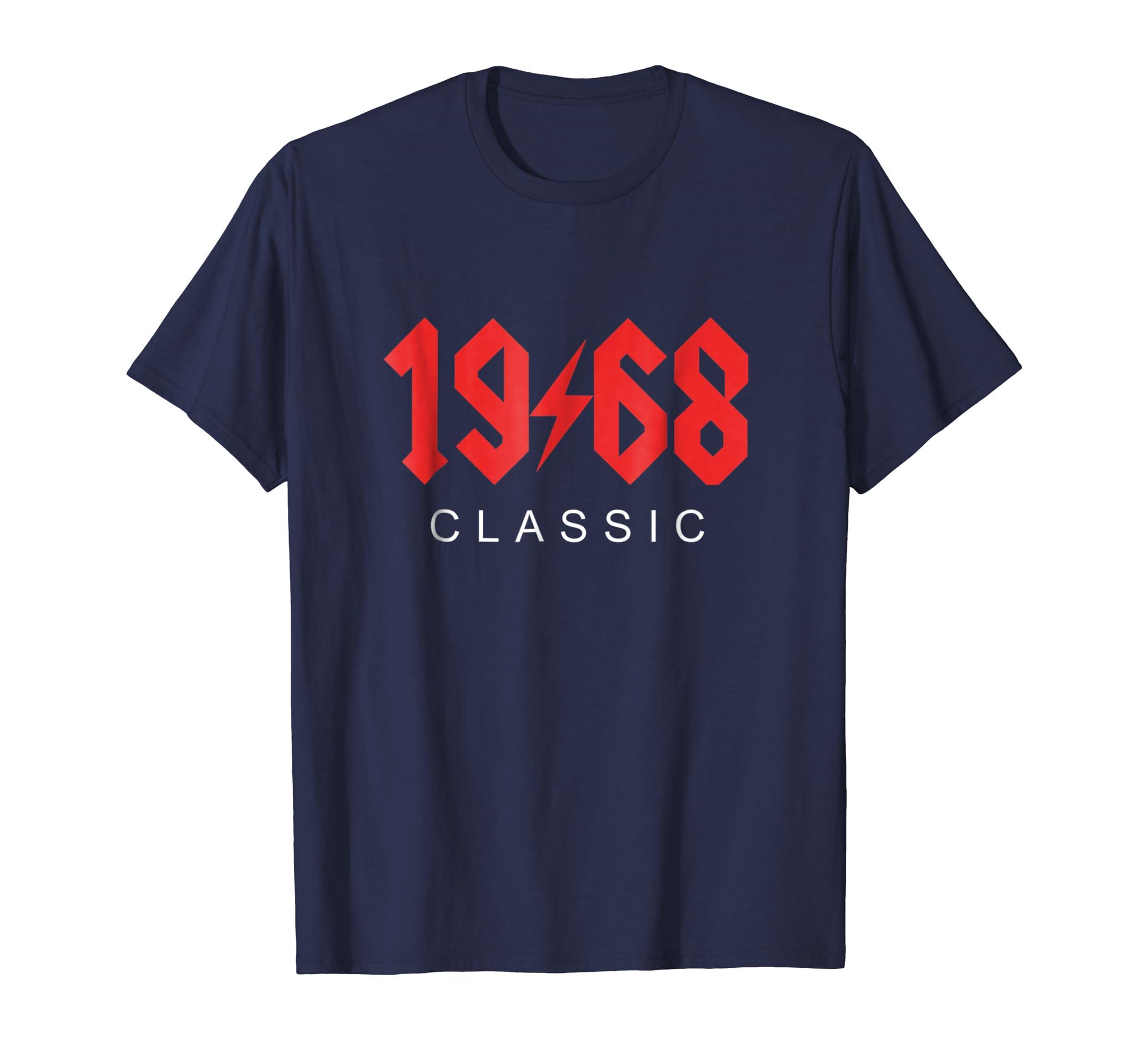 Vintage 1968 Classic Rock 50th Birthday Gift T Shirt-Teesml
