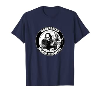 2189827b7 Image Unavailable. Image not available for. Color: Bigfoot Hide & Seek  Undefeated World Champion Funny Shirt