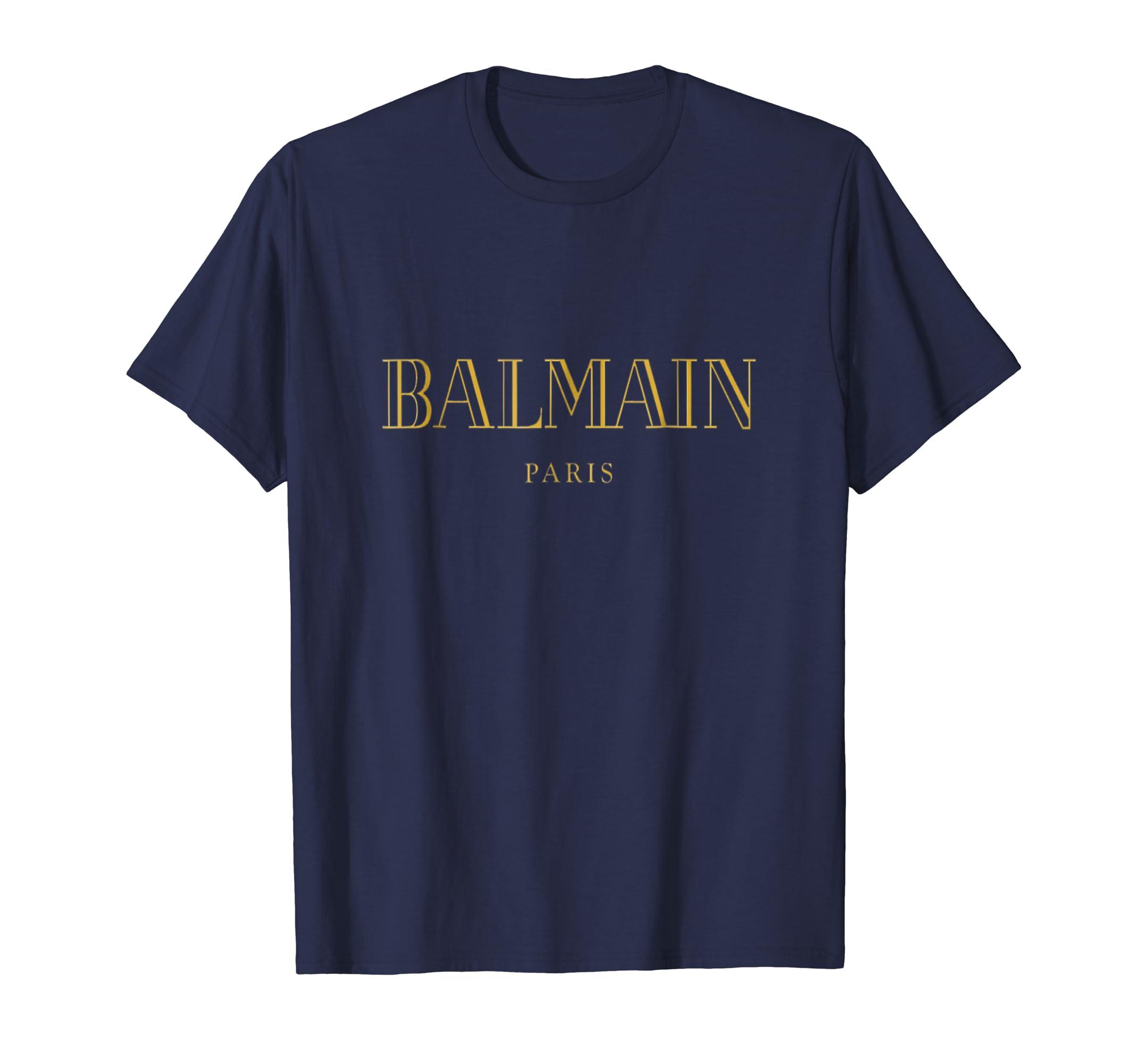 _Balmain Paris Gold_.+tshirt-ln