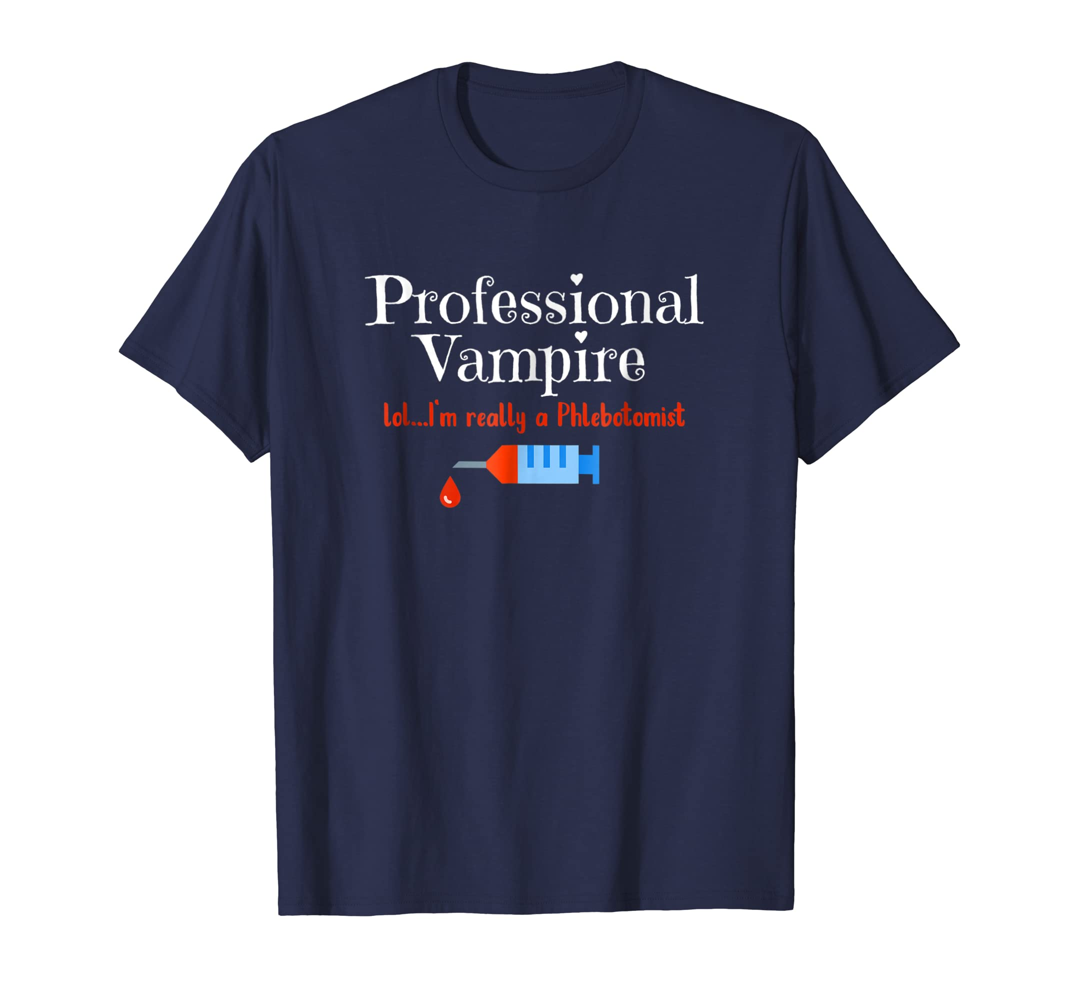 ca611634 Womens Medical Shirt Professional Vampire Phlebotomist