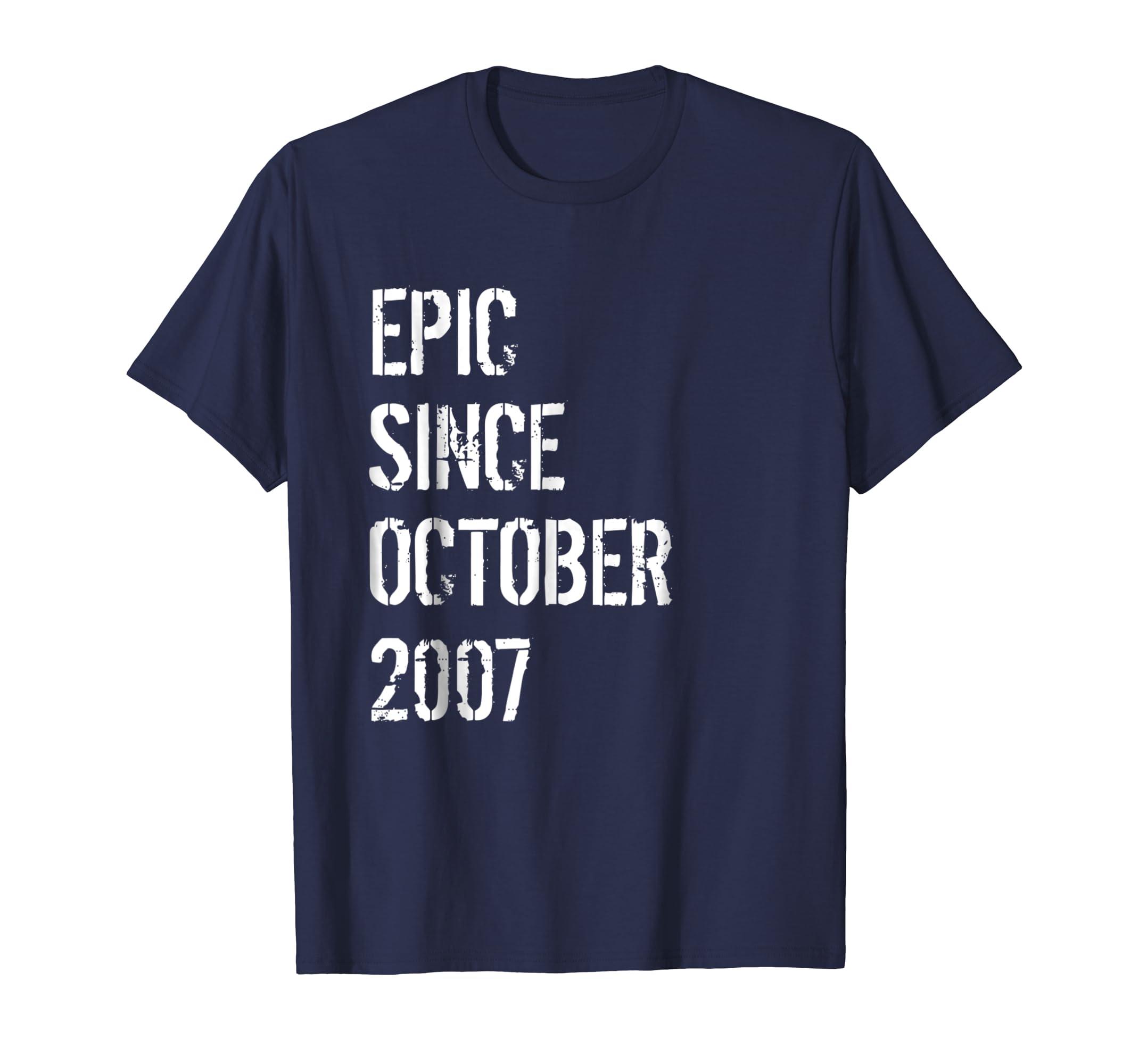11th Birthday Gift Shirt Boys Girls Born In October 2007-ln
