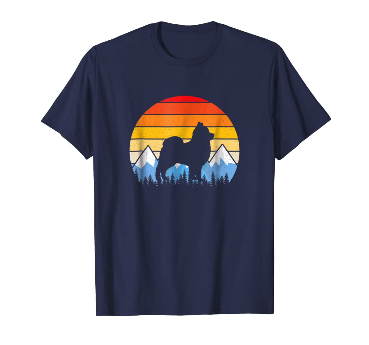 Vintage Retro Pomeranian Lovers Gifts Pomeranian T Shirts-Men's T-Shirt-Navy