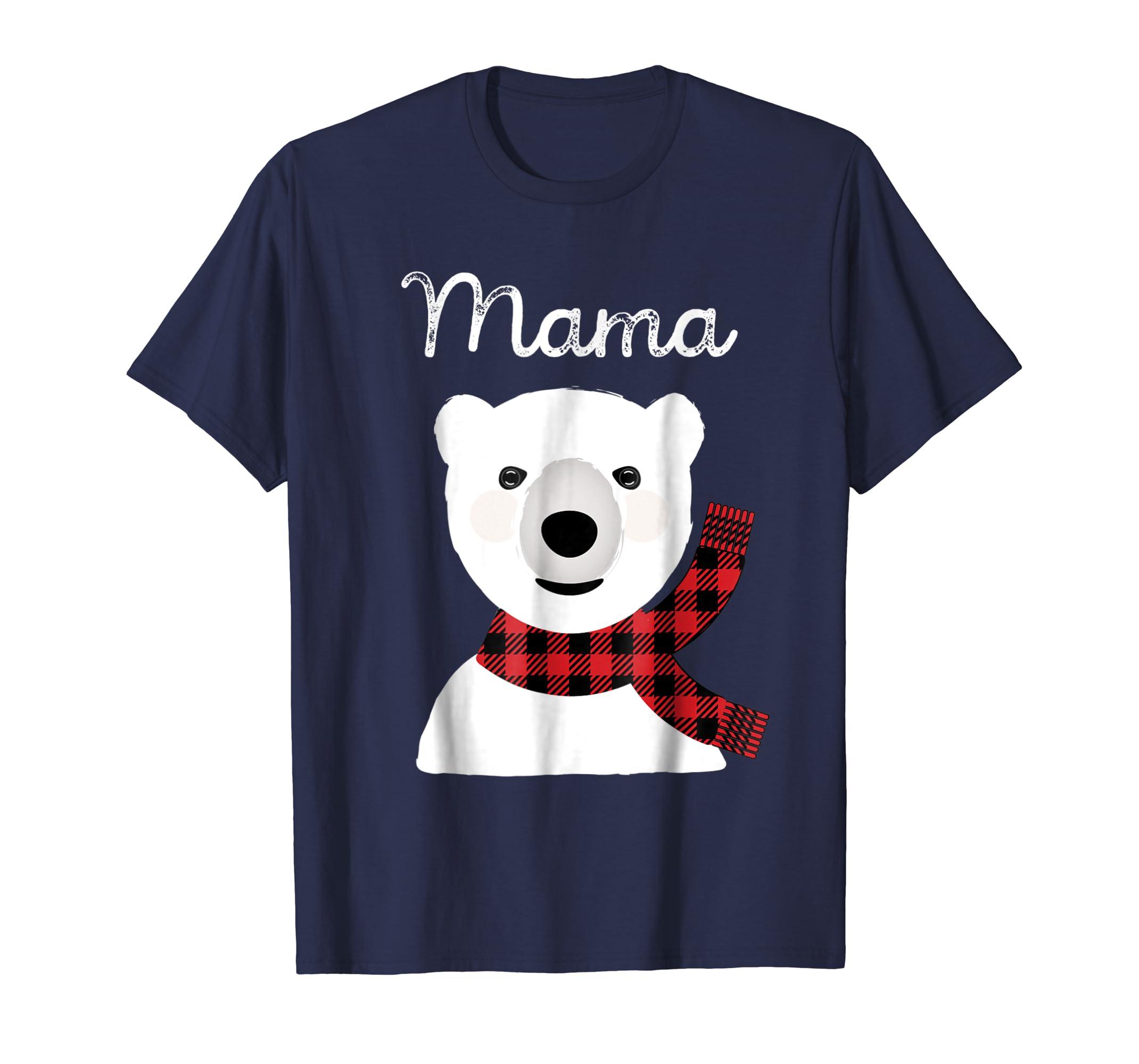 Family Matching Christmas Shirt Buffalo Plaid Mama Bear Gift-azvn