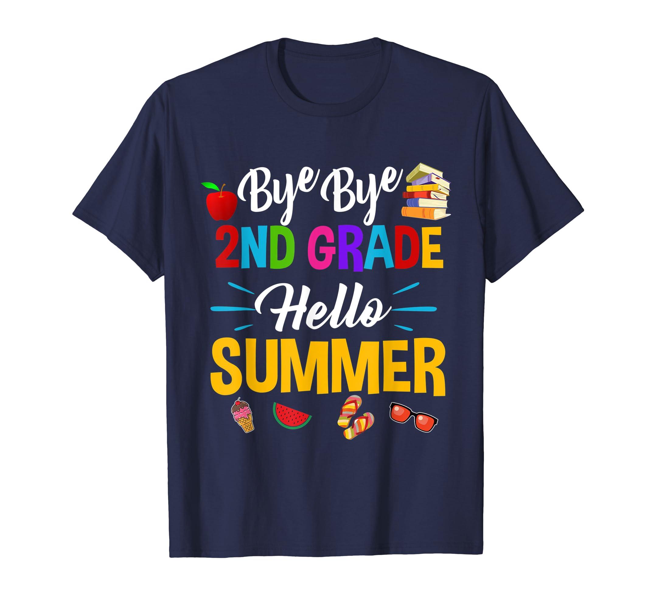 Straight Outta 2nd Grade Hello Summer Time Graduate T-shirt-Loveshirt