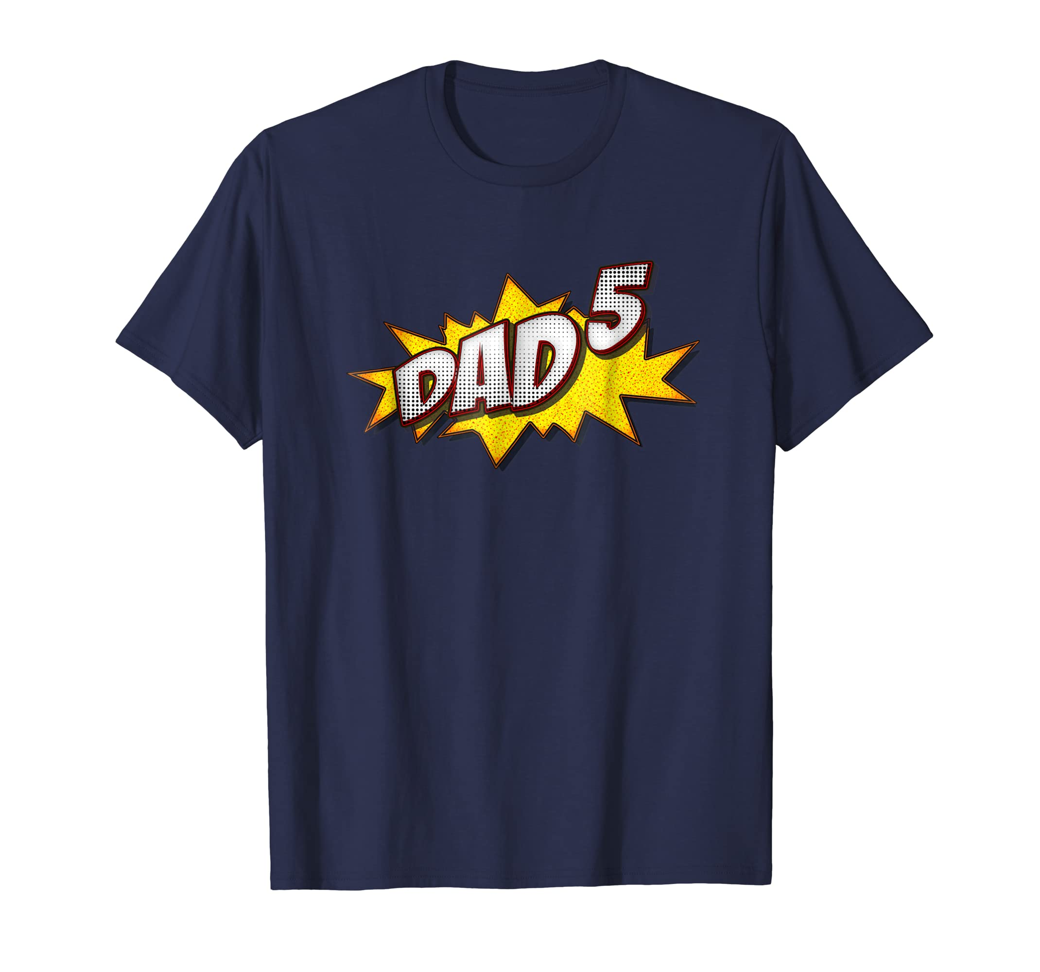 Retro Dad Of 5 Shirt Father's Day Gifts For Quintuplets Dad-anz
