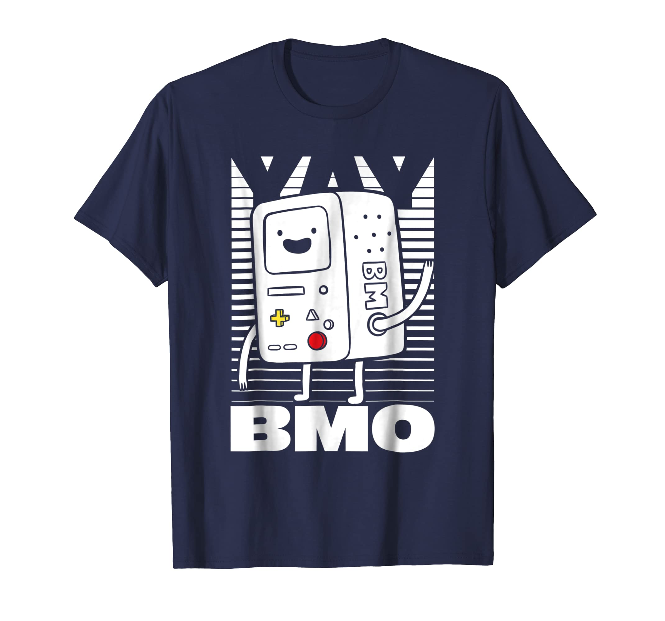 Adventure Time BMO Wave YAY Halftone Fade Graphic T Shirt-azvn