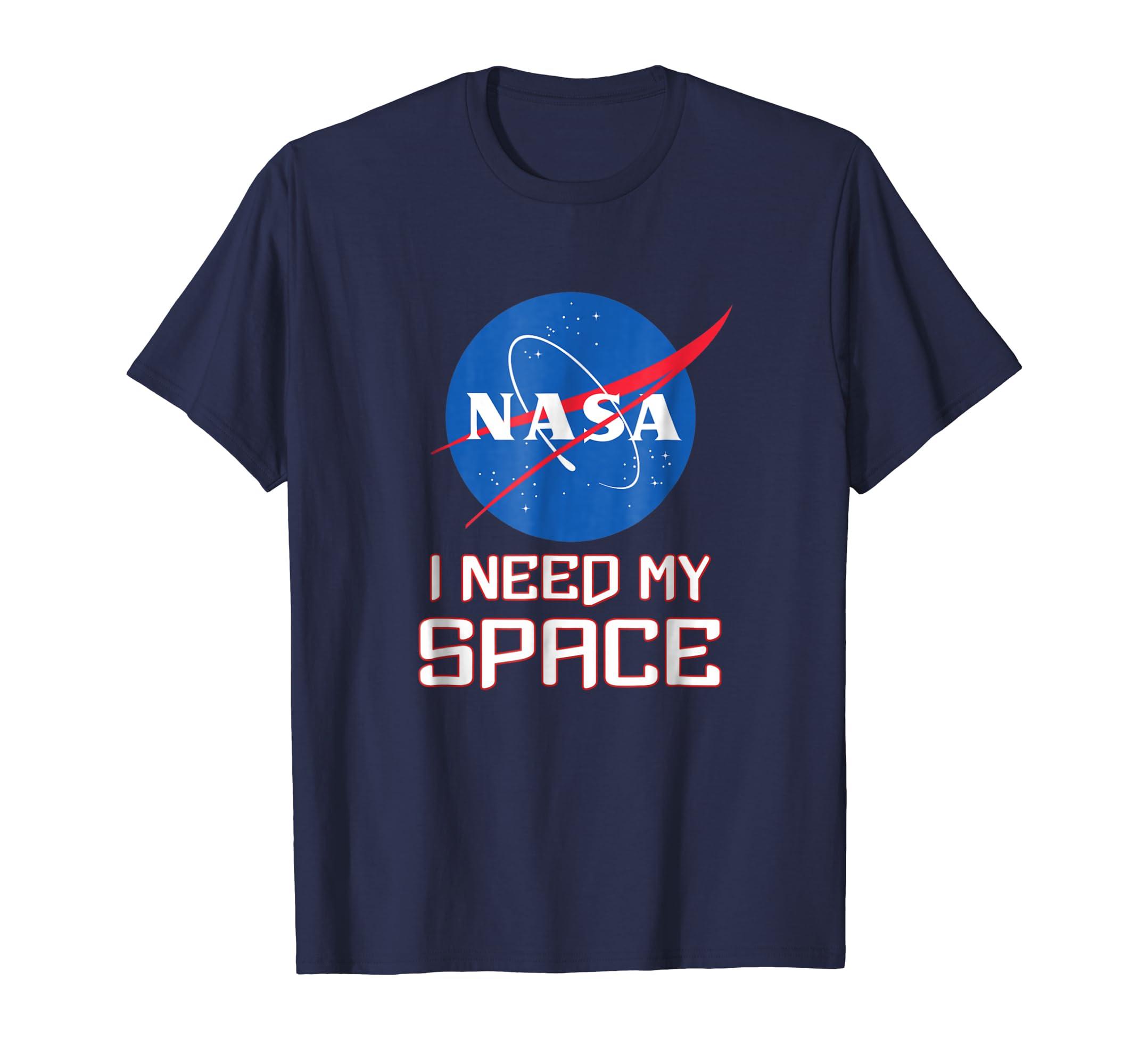 33b9d117 Amazon.com: NASA logo I need my space t-shirt: Clothing