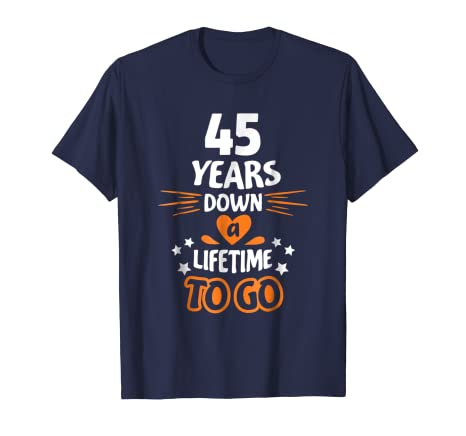 Amazon 45th Wedding Anniversary Gift For Parents 45 Years T