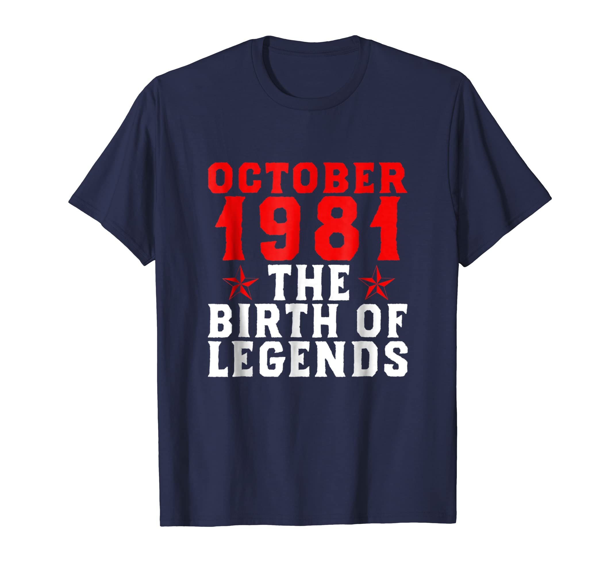 37th Birthday Gift October 1981 Shirt The Birth Of Legends-ln