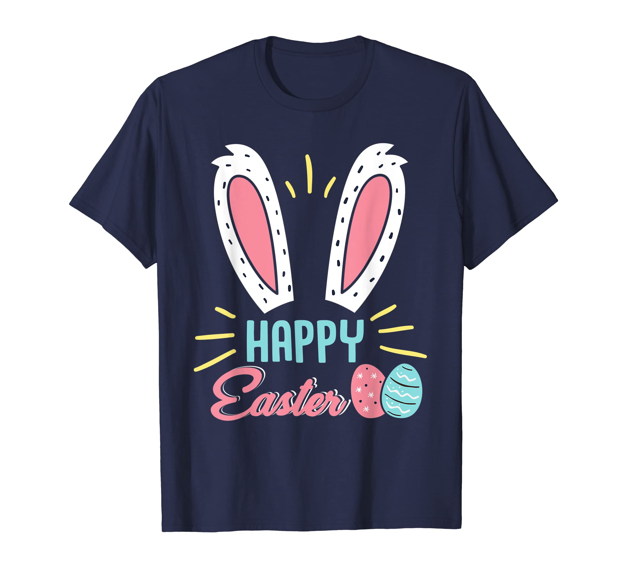 Happy Easter Shirt Colorful Eggs-azvn