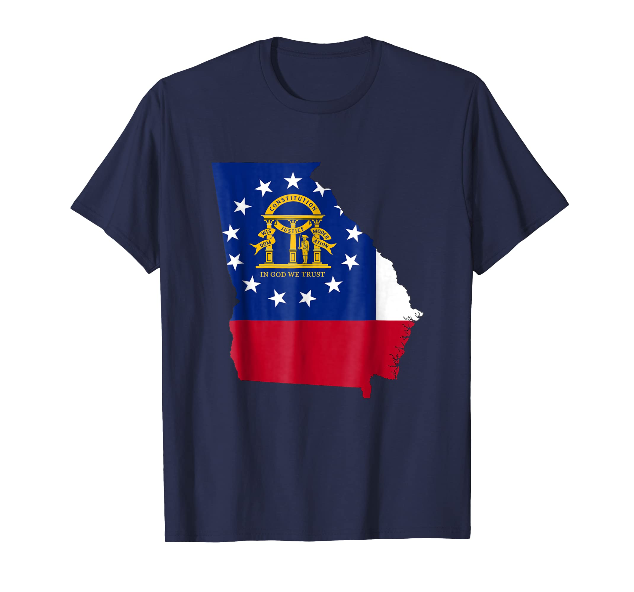 Georgia Flag State T Shirt USA United States of America Tee-azvn