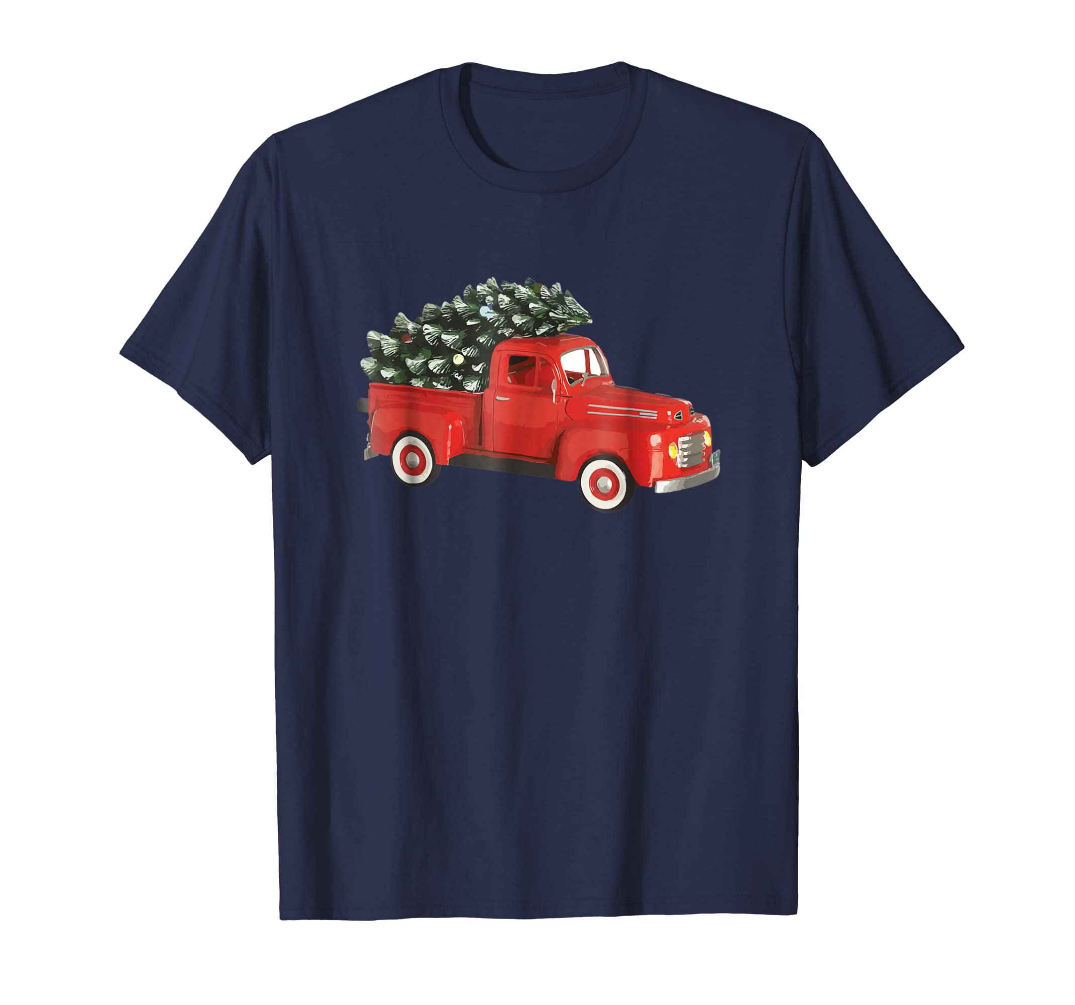 Live Christmas Tree Farm Truck Happy Holidays Shirt-azvn