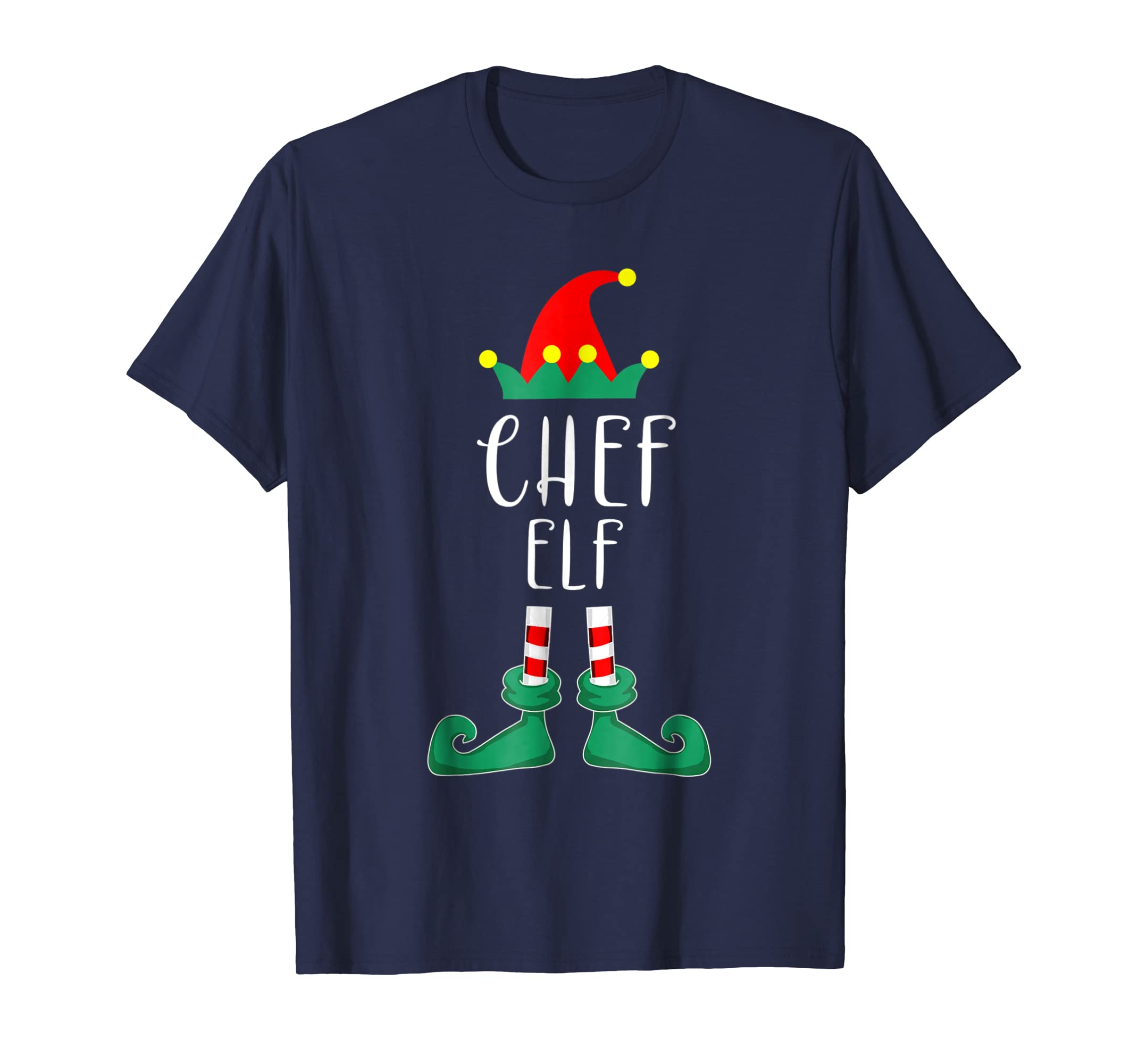 Chef Elf Costume Christmas Holiday Matching T Shirt Funny-azvn