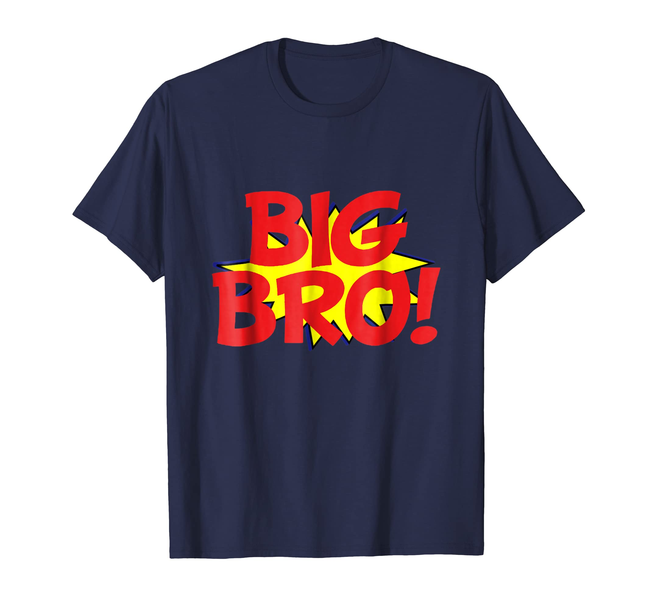 Big Bro Comic Book Funny Superhero T-Shirt for Kids-ANZ