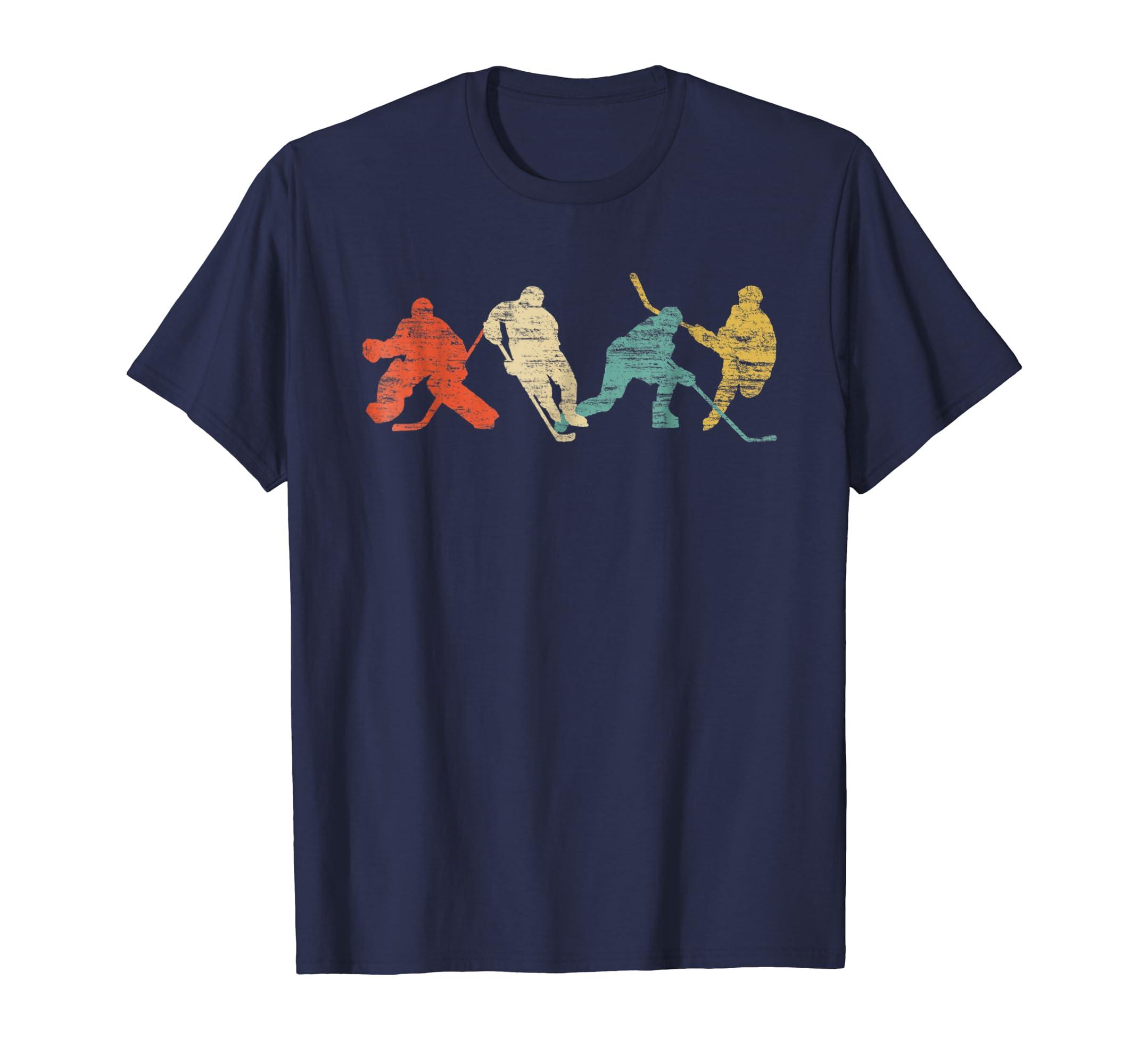 Classic Vintage Style Ice Hockey T Shirt-azvn