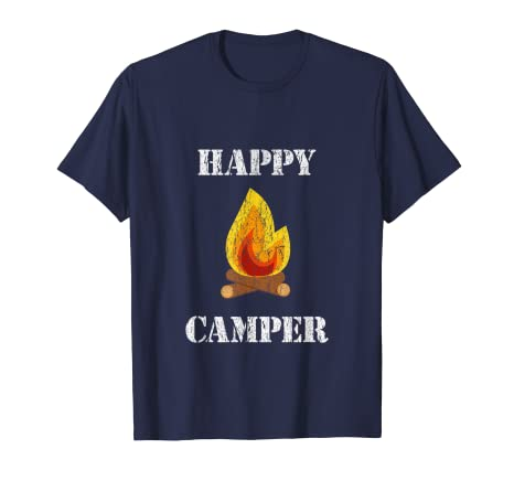 7cf0bd6afe99 Image Unavailable. Image not available for. Color  Vintage Happy Camper  TShirt Campfire Tee Shirt
