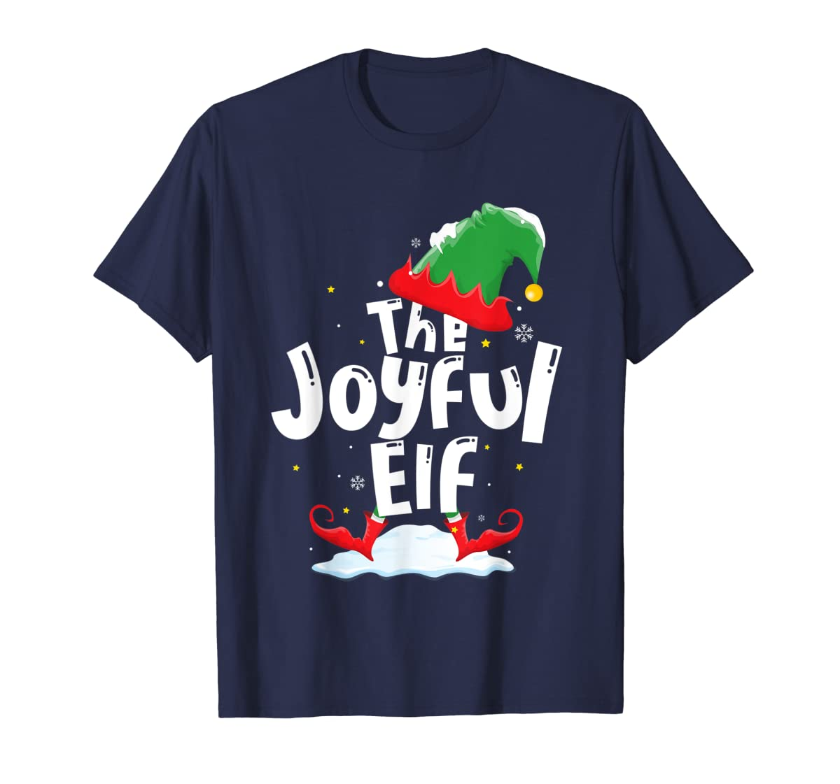 The Joyful Elf Group Matching Family Christmas Gifts Holiday T-Shirt-Men's T-Shirt-Navy