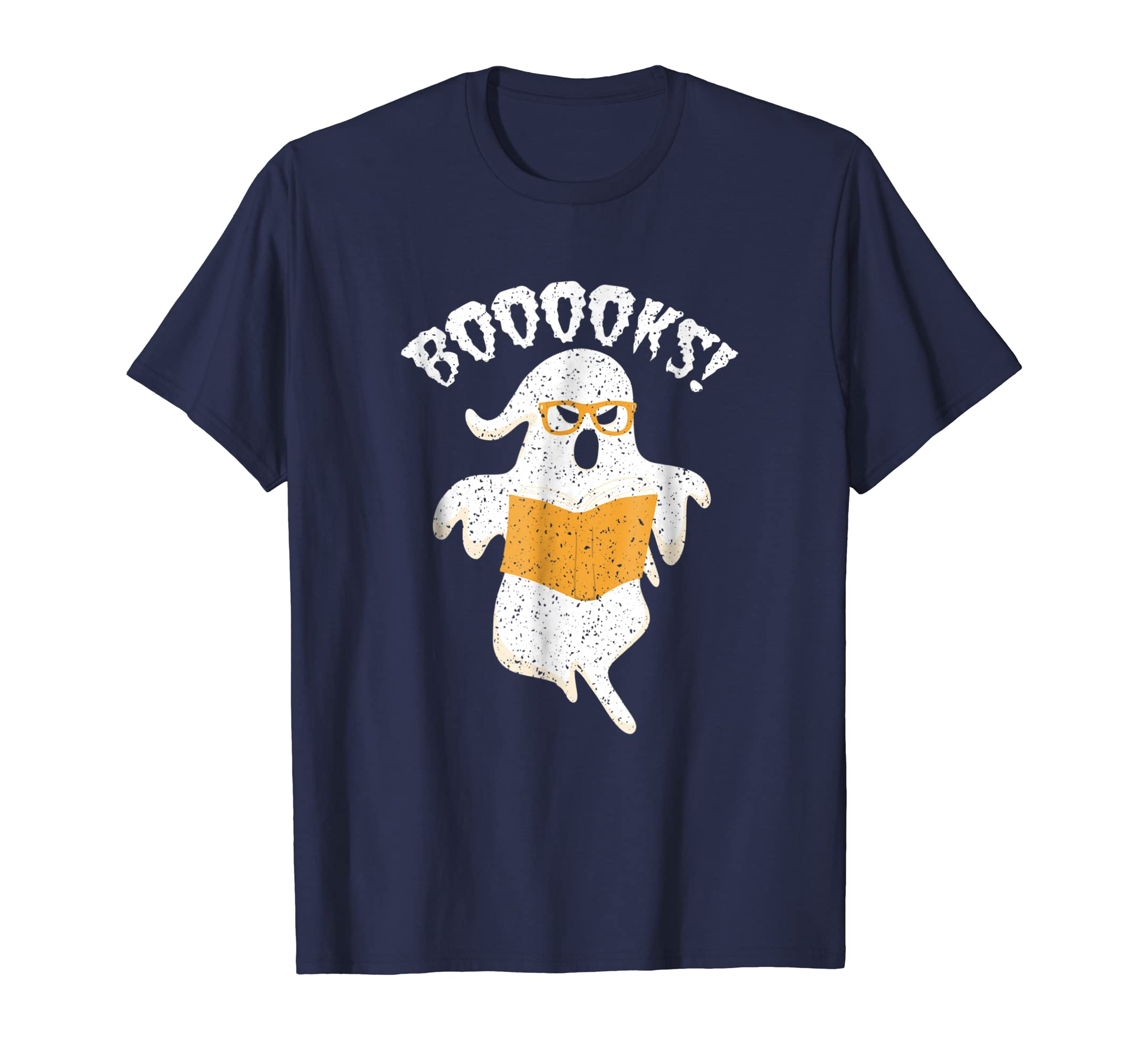 Book Reader Nerd Ghost T Shirt Boooks Halloween Reading Tee-ln